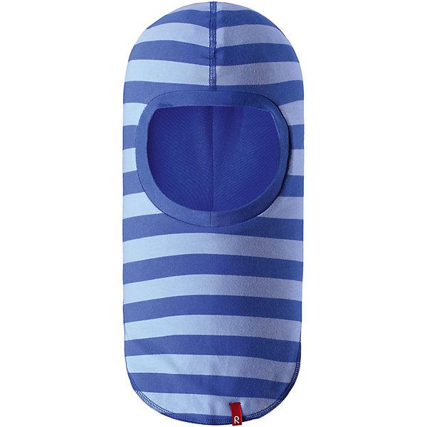 Шапка-шлем Kuunari для мальчика ReimaШапки и шарфы<br>Характеристики товара:<br><br>• цвет: голубой<br>• состав: 65% хлопок, 30% полиэстер, 5% эластан<br>• сплошная подкладка: влаговыводящий трикотаж Play Jersey<br>• температурный режим: от -5С до +10С<br>• двухсторонняя модель<br>• эластичный материал<br>• быстросохнущий, очень приятный на ощупь материал Play Jersey<br>• приятная на ощупь хлопковая поверхность<br>• влагоотводящая изнаночная сторона<br>• УФ-защита 40+<br>• эмблема Reima<br>• страна бренда: Финляндия<br>• страна производства: Китай<br><br>Эта модель - двусторонняя: вывернув её, получаем еще одну шапку другой расцветки! Детский головной убор может быть модным и удобным одновременно. Стильная шапка поможет обеспечить ребенку комфорт и дополнить наряд. Шапка удобно сидит и аккуратно выглядит. Проста в уходе, долго служит. Стильный дизайн разрабатывался специально для детей. Отличная защита от дождя и ветра!<br><br>Уход:<br><br>• сирать с бельем одинакового цвета, вывернув наизнанку<br>• полоскать без специального средства<br>• придать первоначальную форму вo влажном виде.<br><br>Шапку от финского бренда Reima (Рейма) можно купить в нашем интернет-магазине.<br>Ширина мм: 89; Глубина мм: 117; Высота мм: 44; Вес г: 155; Цвет: синий; Возраст от месяцев: 6; Возраст до месяцев: 9; Пол: Мужской; Возраст: Детский; Размер: 46,54,50; SKU: 5270980;