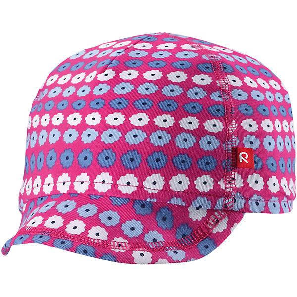 Кепка Wafer для девочки ReimaШапки и шарфы<br>Характеристики товара:<br><br>• цвет: розовый<br>• состав: 65% хлопок, 30% полиэстер, 5% эластан<br>• сплошная подкладка: влаговыводящий трикотаж Play Jersey<br>• температурный режим: от +10С<br>• фактор защиты от ультрафиолета: 50+<br>• эластичный материал<br>• быстросохнущий, очень приятный на ощупь материал Play Jersey<br>• приятная на ощупь хлопковая поверхность<br>• влагоотводящая изнаночная сторона<br>• эмблема Reima спереди<br>• страна бренда: Финляндия<br>• страна производства: Китай<br><br>Детский головной убор может быть модным и удобным одновременно! Стильная кепка поможет обеспечить ребенку комфорт и дополнить наряд. Кепка удобно сидит и аккуратно выглядит. Проста в уходе, долго служит. Стильный дизайн разрабатывался специально для детей. Отличная защита от солнца!<br><br>Уход:<br><br>• стирать с бельем одинакового цвета, вывернув наизнанку<br>• полоскать без специального средства<br>• придать первоначальную форму вo влажном виде.<br><br>Кепку от финского бренда Reima (Рейма) можно купить в нашем интернет-магазине.<br>Ширина мм: 89; Глубина мм: 117; Высота мм: 44; Вес г: 155; Цвет: розовый; Возраст от месяцев: 6; Возраст до месяцев: 9; Пол: Женский; Возраст: Детский; Размер: 46,50; SKU: 5271009;