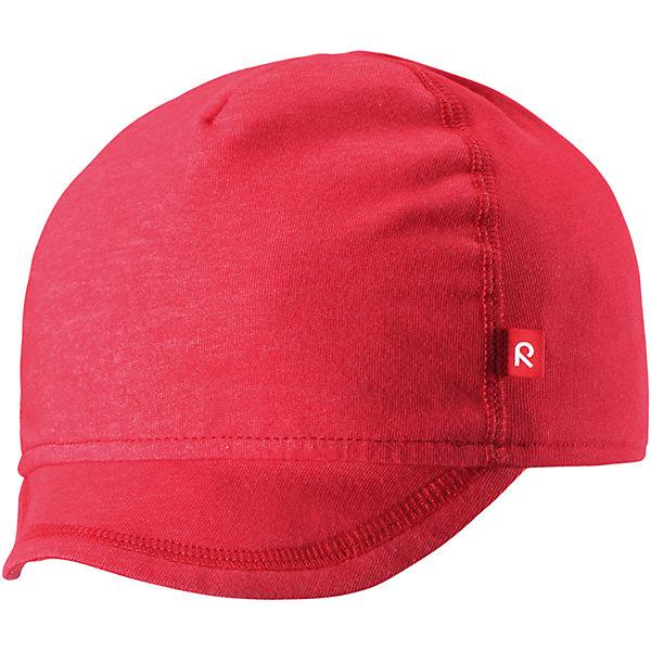 Кепка Wafer для девочки ReimaШапки и шарфы<br>Характеристики товара:<br><br>• цвет: красный<br>• состав: 65% хлопок, 30% полиэстер, 5% эластан<br>• сплошная подкладка: влаговыводящий трикотаж Play Jersey<br>• температурный режим: от +10С<br>• фактор защиты от ультрафиолета: 50+<br>• эластичный материал<br>• быстросохнущий, очень приятный на ощупь материал Play Jersey<br>• приятная на ощупь хлопковая поверхность<br>• влагоотводящая изнаночная сторона<br>• эмблема Reima спереди<br>• страна бренда: Финляндия<br>• страна производства: Китай<br><br>Детский головной убор может быть модным и удобным одновременно! Стильная кепка поможет обеспечить ребенку комфорт и дополнить наряд. Кепка удобно сидит и аккуратно выглядит. Проста в уходе, долго служит. Стильный дизайн разрабатывался специально для детей. Отличная защита от солнца!<br><br>Уход:<br><br>• стирать с бельем одинакового цвета, вывернув наизнанку<br>• полоскать без специального средства<br>• придать первоначальную форму вo влажном виде.<br><br>Кепку от финского бренда Reima (Рейма) можно купить в нашем интернет-магазине.<br>Ширина мм: 89; Глубина мм: 117; Высота мм: 44; Вес г: 155; Цвет: красный; Возраст от месяцев: 6; Возраст до месяцев: 9; Пол: Женский; Возраст: Детский; Размер: 46,50; SKU: 5271012;