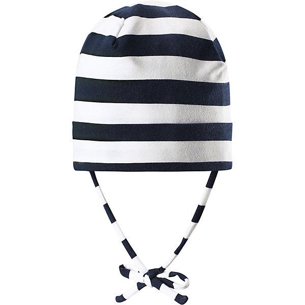 Шапка Linna ReimaШапки и шарфы<br>Характеристики товара:<br><br>• цвет: белый/синий<br>• состав: 65% хлопок, 30% полиэстер, 5% эластан<br>• сплошная подкладка: влаговыводящий трикотаж Play Jersey<br>• температурный режим: от 0С до +10С<br>• фактор защиты от ультрафиолета: 40+<br>• эластичный материал<br>• быстросохнущий, очень приятный на ощупь материал Play Jersey<br>• приятная на ощупь хлопковая поверхность<br>• влагоотводящая изнаночная сторона<br>• завязки во всех размерах<br>• эмблема Reima сзади<br>• страна бренда: Финляндия<br>• страна производства: Китай<br><br>Детский головной убор может быть модным и удобным одновременно! Стильная шапка поможет обеспечить ребенку комфорт и дополнить наряд. Шапка удобно сидит и аккуратно выглядит. Проста в уходе, долго служит. Стильный дизайн разрабатывался специально для детей. Отличная защита от дождя и ветра!<br><br>Уход:<br><br>• стирать с бельем одинакового цвета, вывернув наизнанку<br>• полоскать без специального средства<br>• придать первоначальную форму вo влажном виде.<br><br>Шапку от финского бренда Reima (Рейма) можно купить в нашем интернет-магазине.<br>Ширина мм: 89; Глубина мм: 117; Высота мм: 44; Вес г: 155; Цвет: синий; Возраст от месяцев: 9; Возраст до месяцев: 18; Пол: Унисекс; Возраст: Детский; Размер: 46,50,48,52; SKU: 5271020;