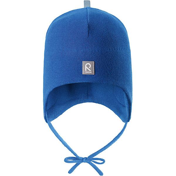 Шапка Aqueous для мальчика ReimaШапки и шарфы<br>Характеристики товара:<br><br>• цвет: синий<br>• состав: 100% хлопок<br>• полуподкладка: хлопковый трикотаж<br>• температурный режим: от 0С до +10С<br>• эластичный хлопковый трикотаж<br>• инделие сертифицированно по стандарту Oeko-Tex на продукция класса 1 - одежда для новорождённых<br>• ветронепроницаемые вставки в области ушей<br>• завязки во всех размерах<br>• эмблема Reima спереди<br>• светоотражающие детали<br>• страна бренда: Финляндия<br>• страна производства: Китай<br><br>Детский головной убор может быть модным и удобным одновременно! Стильная шапка поможет обеспечить ребенку комфорт и дополнить наряд. Шапка удобно сидит и аккуратно выглядит. Проста в уходе, долго служит. Стильный дизайн разрабатывался специально для детей. Отличная защита от дождя и ветра!<br><br>Уход:<br><br>• стирать по отдельности, вывернув наизнанку<br>• придать первоначальную форму вo влажном виде<br>• возможна усадка 5 %.<br><br>Шапку от финского бренда Reima (Рейма) можно купить в нашем интернет-магазине.<br>Ширина мм: 89; Глубина мм: 117; Высота мм: 44; Вес г: 155; Цвет: синий; Возраст от месяцев: 6; Возраст до месяцев: 9; Пол: Мужской; Возраст: Детский; Размер: 46,52,48,50; SKU: 5271095;