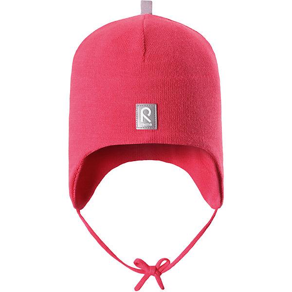Шапка Aqueous для девочки ReimaШапки и шарфы<br>Характеристики товара:<br><br>• цвет: красный<br>• состав: 100% хлопок<br>• полуподкладка: хлопковый трикотаж<br>• температурный режим: от 0С до +10С<br>• эластичный хлопковый трикотаж<br>• инделие сертифицированно по стандарту Oeko-Tex на продукция класса 1 - одежда для новорождённых<br>• ветронепроницаемые вставки в области ушей<br>• завязки во всех размерах<br>• эмблема Reima спереди<br>• светоотражающие детали<br>• страна бренда: Финляндия<br>• страна производства: Китай<br><br>Детский головной убор может быть модным и удобным одновременно! Стильная шапка поможет обеспечить ребенку комфорт и дополнить наряд. Шапка удобно сидит и аккуратно выглядит. Проста в уходе, долго служит. Стильный дизайн разрабатывался специально для детей. Отличная защита от дождя и ветра!<br><br>Уход:<br><br>• стирать по отдельности, вывернув наизнанку<br>• придать первоначальную форму вo влажном виде<br>• возможна усадка 5 %.<br><br>Шапку от финского бренда Reima (Рейма) можно купить в нашем интернет-магазине.<br>Ширина мм: 89; Глубина мм: 117; Высота мм: 44; Вес г: 155; Цвет: розовый; Возраст от месяцев: 6; Возраст до месяцев: 9; Пол: Женский; Возраст: Детский; Размер: 46,48,52,50; SKU: 5271110;