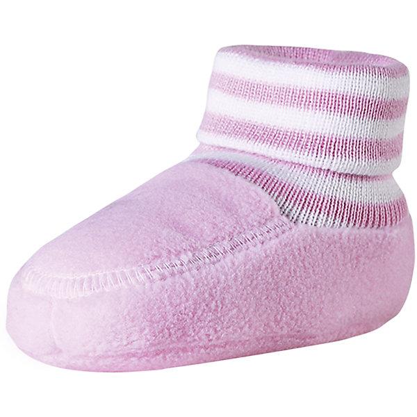 Пинетки Minute для девочки ReimaОбувь<br>Характеристики товара:<br><br>• цвет: розовый<br>• материал: поларфлис<br>• состав: 100% полиэстер<br>• теплый, легкий и быстросохнущий полярный флис<br>• эластичный хлопковый трикотаж<br>• основной материал сертифицирован Oeko-Tex, класс 1, одежда для малышей<br>• сплошная подкладка из хлопкового трикотажа<br>• декоративный логотип<br>• без утеплителя<br>• страна производства: Китай<br>• страна бренда: Финляндия<br>• коллекция: весна-лето 2017<br><br>Reima представляет пинетки для малышей. Они помогут обеспечить ребенку комфорт и удобство. Пинетки отлично смотрятся с различной одеждой. Изделия удобно сидят и модно выглядят, в их основе мягкий и теплый материал. Стильный дизайн разрабатывался специально для детей.<br><br>Одежда и обувь от финского бренда Reima пользуется популярностью во многих странах. Эти изделия стильные, качественные и удобные. Для производства продукции используются только безопасные, проверенные материалы и фурнитура. Порадуйте ребенка модными и красивыми вещами от Reima! <br><br>Пинетки для мальчика от финского бренда Reima (Рейма) можно купить в нашем интернет-магазине.<br><br>Ширина мм: 152<br>Глубина мм: 126<br>Высота мм: 93<br>Вес г: 242<br>Цвет: розовый<br>Возраст от месяцев: 0<br>Возраст до месяцев: 12<br>Пол: Женский<br>Возраст: Детский<br>Размер: 0,1<br>SKU: 5271175