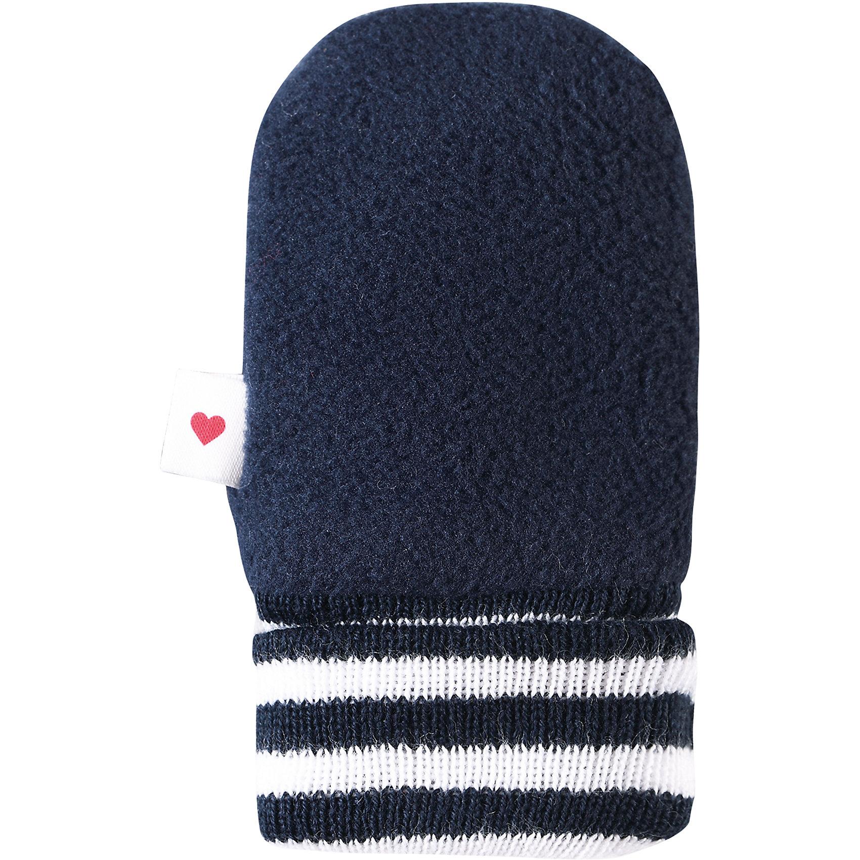 Варежки Mielle для мальчика ReimaПерчатки, варежки<br>Характеристики товара:<br><br>• цвет: синий<br>• материал: поларфлис<br>• состав: верх - 100% полиэстер<br>• теплый, легкий и быстросохнущий полярный флис<br>• эластичный хлопковый трикотаж<br>• основной материал сертифицирован Oeko-Tex, класс 1, одежда для малышей<br>• сплошная подкладка из хлопкового трикотажа<br>• декоративный логотип сбоку<br>• без утеплителя<br>• страна производства: Китай<br>• страна бренда: Финляндия<br>• коллекция: весна-лето 2017<br><br>Reima представляет симпатичные варежки для малышей. Они помогут обеспечить ребенку комфорт и удобство. Варежки отлично смотрятся с различной одеждой. Изделия удобно сидят и модно выглядят, в их основе мягкий и теплый материал. Стильный дизайн разрабатывался специально для детей.<br><br>Одежда и обувь от финского бренда Reima пользуется популярностью во многих странах. Эти изделия стильные, качественные и удобные. Для производства продукции используются только безопасные, проверенные материалы и фурнитура. Порадуйте ребенка модными и красивыми вещами от Reima! <br><br>Варежки для мальчика от финского бренда Reima (Рейма) можно купить в нашем интернет-магазине.<br><br>Ширина мм: 162<br>Глубина мм: 171<br>Высота мм: 55<br>Вес г: 119<br>Цвет: синий<br>Возраст от месяцев: 0<br>Возраст до месяцев: 12<br>Пол: Мужской<br>Возраст: Детский<br>Размер: 0,1<br>SKU: 5271181