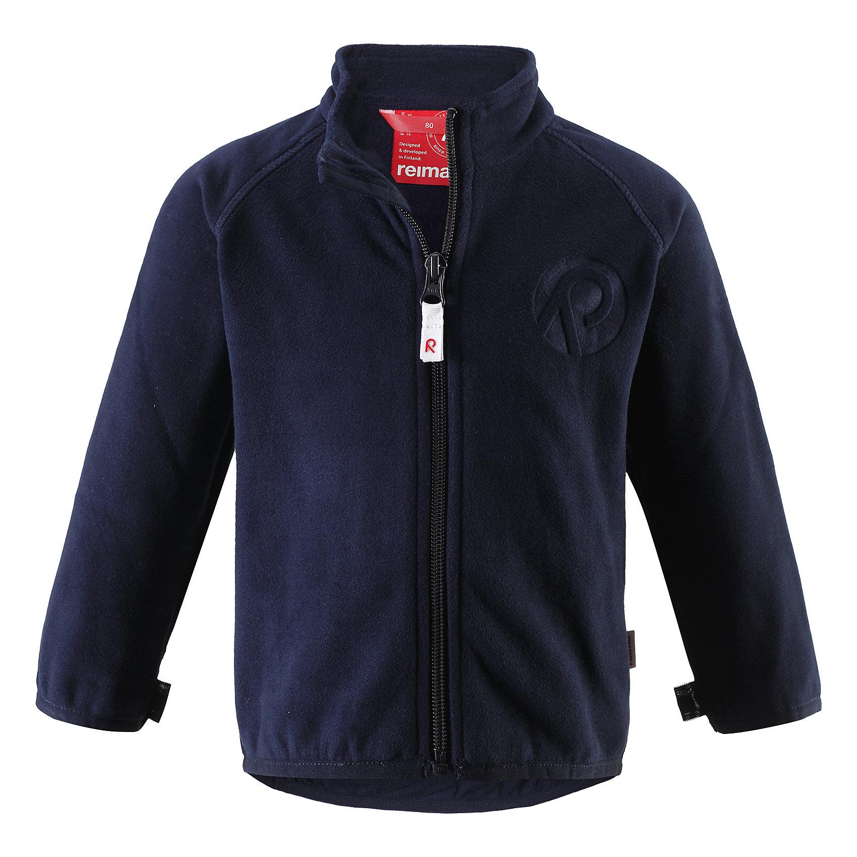 Куртка флисовая Nuoto ReimaХарактеристики товара:<br><br>• цвет: тёмно-синий<br>• состав: 100% полиэстер, флис<br>• тёплый, лёгкий и быстросохнущий полярный флис<br>• пристёгивается к верхней одежде Reima с помощью системы кнопок Play Layers<br>• эластичные манжеты и подол<br>• молния во всю длину со вставкой для защиты подбородка<br>• модель с горячим тиснением<br>• комфортная посадка<br>• страна производства: Китай<br>• страна бренда: Финляндия<br>• коллекция: весна-лето 2017<br><br>Одежда для детей может быть модной и комфортной одновременно! Удобная курточка поможет обеспечить ребенку комфорт и тепло. Изделие сшито из флиса - мягкого и теплого материала, приятного на ощупь. Модель стильно смотрится, отлично сочетается с различным низом. Стильный дизайн разрабатывался специально для детей.<br><br>Одежда и обувь от финского бренда Reima пользуется популярностью во многих странах. Эти изделия стильные, качественные и удобные. Для производства продукции используются только безопасные, проверенные материалы и фурнитура. Порадуйте ребенка модными и красивыми вещами от Reima! <br><br>Куртку флисовую для мальчика от финского бренда Reima (Рейма) можно купить в нашем интернет-магазине.<br><br>Ширина мм: 356<br>Глубина мм: 10<br>Высота мм: 245<br>Вес г: 519<br>Цвет: синий<br>Возраст от месяцев: 18<br>Возраст до месяцев: 24<br>Пол: Унисекс<br>Возраст: Детский<br>Размер: 92,74,98,86,80<br>SKU: 5271271