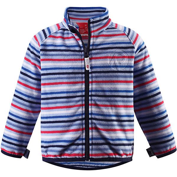 Куртка флисовая Nuoto ReimaФлис и термобелье<br>Характеристики товара:<br><br>• цвет: голубой<br>• состав: 100% полиэстер, флис<br>• тёплый, лёгкий и быстросохнущий полярный флис<br>• пристёгивается к верхней одежде Reima с помощью системы кнопок Play Layers<br>• эластичные манжеты и подол<br>• молния во всю длину со вставкой для защиты подбородка<br>• модель с горячим тиснением<br>• комфортная посадка<br>• страна производства: Китай<br>• страна бренда: Финляндия<br>• коллекция: весна-лето 2017<br><br>Одежда для детей может быть модной и комфортной одновременно! Удобная курточка поможет обеспечить ребенку комфорт и тепло. Изделие сшито из флиса - мягкого и теплого материала, приятного на ощупь. Модель стильно смотрится, отлично сочетается с различным низом. Стильный дизайн разрабатывался специально для детей.<br><br>Одежда и обувь от финского бренда Reima пользуется популярностью во многих странах. Эти изделия стильные, качественные и удобные. Для производства продукции используются только безопасные, проверенные материалы и фурнитура. Порадуйте ребенка модными и красивыми вещами от Reima! <br><br>Куртку флисовую для мальчика от финского бренда Reima (Рейма) можно купить в нашем интернет-магазине.<br><br>Ширина мм: 356<br>Глубина мм: 10<br>Высота мм: 245<br>Вес г: 519<br>Цвет: синий<br>Возраст от месяцев: 12<br>Возраст до месяцев: 15<br>Пол: Унисекс<br>Возраст: Детский<br>Размер: 80,74,98,86,92<br>SKU: 5271277