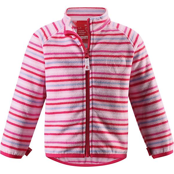Куртка Nuoto для девочки флисовая ReimaОдежда<br>Характеристики товара:<br><br>• цвет: розовый<br>• состав: 100% полиэстер, флис<br>• тёплый, лёгкий и быстросохнущий полярный флис<br>• пристёгивается к верхней одежде Reima с помощью системы кнопок Play Layers<br>• эластичные манжеты и подол<br>• молния во всю длину со вставкой для защиты подбородка<br>• модель с горячим тиснением<br>• комфортная посадка<br>• страна производства: Китай<br>• страна бренда: Финляндия<br>• коллекция: весна-лето 2017<br><br>Одежда для детей может быть модной и комфортной одновременно! Удобная курточка поможет обеспечить ребенку комфорт и тепло. Изделие сшито из флиса - мягкого и теплого материала, приятного на ощупь. Модель стильно смотрится, отлично сочетается с различным низом. Стильный дизайн разрабатывался специально для детей.<br><br>Одежда и обувь от финского бренда Reima пользуется популярностью во многих странах. Эти изделия стильные, качественные и удобные. Для производства продукции используются только безопасные, проверенные материалы и фурнитура. Порадуйте ребенка модными и красивыми вещами от Reima! <br><br>Куртку флисовую для мальчика от финского бренда Reima (Рейма) можно купить в нашем интернет-магазине.<br>Ширина мм: 356; Глубина мм: 10; Высота мм: 245; Вес г: 519; Цвет: розовый; Возраст от месяцев: 6; Возраст до месяцев: 9; Пол: Женский; Возраст: Детский; Размер: 86,80,74,98,92; SKU: 5271283;