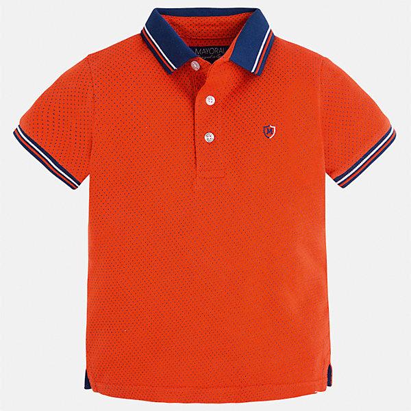 Футболка-поло для мальчика MayoralФутболки, поло и топы<br>Характеристики товара:<br><br>• цвет: красный<br>• состав: 100% хлопок<br>• отложной воротник<br>• короткие рукава<br>• застежка: пуговицы<br>• декорирована вышивкой<br>• страна бренда: Испания<br><br>Модная футболка-поло для мальчика может стать базовой вещью в гардеробе ребенка. Она отлично сочетается с брюками, шортами, джинсами и т.д. Универсальный крой и цвет позволяет подобрать к вещи низ разных расцветок. Практичное и стильное изделие! В составе материала - только натуральный хлопок, гипоаллергенный, приятный на ощупь, дышащий.<br><br>Одежда, обувь и аксессуары от испанского бренда Mayoral полюбились детям и взрослым по всему миру. Модели этой марки - стильные и удобные. Для их производства используются только безопасные, качественные материалы и фурнитура. Порадуйте ребенка модными и красивыми вещами от Mayoral! <br><br>Футболку-поло для мальчика от испанского бренда Mayoral (Майорал) можно купить в нашем интернет-магазине.<br>Ширина мм: 199; Глубина мм: 10; Высота мм: 161; Вес г: 151; Цвет: красный; Возраст от месяцев: 72; Возраст до месяцев: 84; Пол: Мужской; Возраст: Детский; Размер: 122,128,116,98,92,110,104,134; SKU: 5271877;
