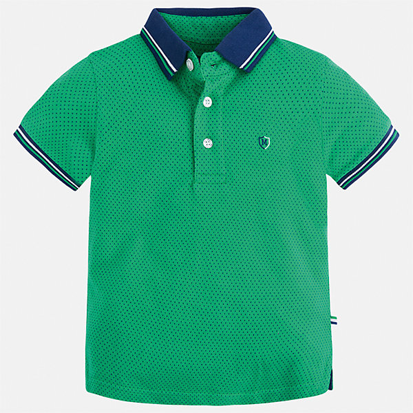 Футболка-поло для мальчика MayoralФутболки, поло и топы<br>Характеристики товара:<br><br>• цвет: зеленый<br>• состав: 100% хлопок<br>• отложной воротник<br>• короткие рукава<br>• застежка: пуговицы<br>• декорирована вышивкой<br>• страна бренда: Испания<br><br>Модная футболка-поло для мальчика может стать базовой вещью в гардеробе ребенка. Она отлично сочетается с брюками, шортами, джинсами и т.д. Универсальный крой и цвет позволяет подобрать к вещи низ разных расцветок. Практичное и стильное изделие! В составе материала - только натуральный хлопок, гипоаллергенный, приятный на ощупь, дышащий.<br><br>Одежда, обувь и аксессуары от испанского бренда Mayoral полюбились детям и взрослым по всему миру. Модели этой марки - стильные и удобные. Для их производства используются только безопасные, качественные материалы и фурнитура. Порадуйте ребенка модными и красивыми вещами от Mayoral! <br><br>Футболку-поло для мальчика от испанского бренда Mayoral (Майорал) можно купить в нашем интернет-магазине.<br><br>Ширина мм: 199<br>Глубина мм: 10<br>Высота мм: 161<br>Вес г: 151<br>Цвет: зеленый<br>Возраст от месяцев: 24<br>Возраст до месяцев: 36<br>Пол: Мужской<br>Возраст: Детский<br>Размер: 98,110,128,104,122,92,116,134<br>SKU: 5271886