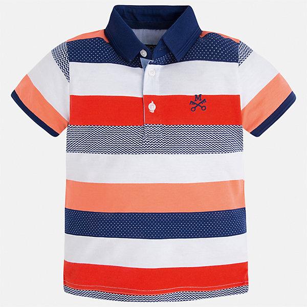 Футболка-поло для мальчика MayoralФутболки, поло и топы<br>Характеристики товара:<br><br>• цвет: красный/белый/синий<br>• состав: 100% хлопок<br>• отложной воротник<br>• короткие рукава<br>• застежка: пуговицы<br>• декорирована вышивкой<br>• страна бренда: Испания<br><br>Модная футболка-поло для мальчика может стать базовой вещью в гардеробе ребенка. Она отлично сочетается с брюками, шортами, джинсами и т.д. Универсальный крой и цвет позволяет подобрать к вещи низ разных расцветок. Практичное и стильное изделие! В составе материала - только натуральный хлопок, гипоаллергенный, приятный на ощупь, дышащий.<br><br>Одежда, обувь и аксессуары от испанского бренда Mayoral полюбились детям и взрослым по всему миру. Модели этой марки - стильные и удобные. Для их производства используются только безопасные, качественные материалы и фурнитура. Порадуйте ребенка модными и красивыми вещами от Mayoral! <br><br>Футболку-поло для мальчика от испанского бренда Mayoral (Майорал) можно купить в нашем интернет-магазине.<br><br>Ширина мм: 230<br>Глубина мм: 40<br>Высота мм: 220<br>Вес г: 250<br>Цвет: красный<br>Возраст от месяцев: 24<br>Возраст до месяцев: 36<br>Пол: Мужской<br>Возраст: Детский<br>Размер: 98,128,92,104,116,110,134,122<br>SKU: 5271895
