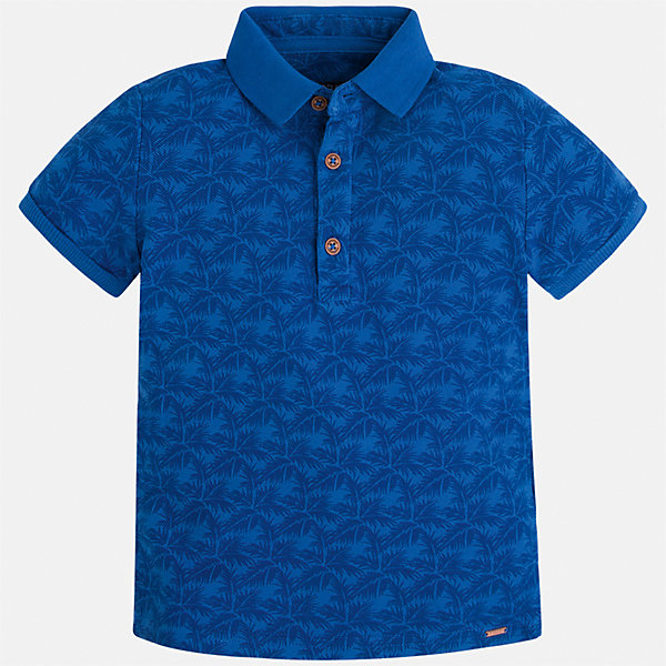 Футболка-поло для мальчика MayoralФутболки, поло и топы<br>Характеристики товара:<br><br>• цвет: синий<br>• состав: 100% хлопок<br>• отложной воротник<br>• короткие рукава<br>• застежка: пуговицы<br>• материал с орнаментом<br>• страна бренда: Испания<br><br>Удобная и модная футболка-поло для мальчика может стать базовой вещью в гардеробе ребенка. Она отлично сочетается с брюками, шортами, джинсами и т.д. Универсальный крой и цвет позволяет подобрать к вещи низ разных расцветок. Практичное и стильное изделие! В составе материала - только натуральный хлопок, гипоаллергенный, приятный на ощупь, дышащий.<br><br>Одежда, обувь и аксессуары от испанского бренда Mayoral полюбились детям и взрослым по всему миру. Модели этой марки - стильные и удобные. Для их производства используются только безопасные, качественные материалы и фурнитура. Порадуйте ребенка модными и красивыми вещами от Mayoral! <br><br>Футболку-поло для мальчика от испанского бренда Mayoral (Майорал) можно купить в нашем интернет-магазине.<br>Ширина мм: 230; Глубина мм: 40; Высота мм: 220; Вес г: 250; Цвет: синий; Возраст от месяцев: 36; Возраст до месяцев: 48; Пол: Мужской; Возраст: Детский; Размер: 116,98,104,92,122,134,110,128; SKU: 5272036;