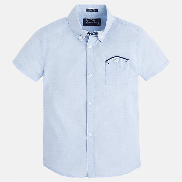 Купить Рубашка для мальчика Mayoral, Индия, голубой, 92, 104, 110, 116, 122, 128, 98, 134, Мужской