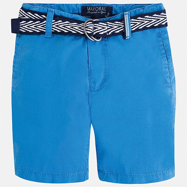 Шорты для мальчика MayoralШорты, бриджи, капри<br>Характеристики товара:<br><br>• цвет: синий<br>• состав: 100% хлопок<br>• шлевки<br>• карманы<br>• пояс с регулировкой объема<br>• ремень в комплекте<br>• страна бренда: Испания<br><br>Модные бриджи для мальчика смогут стать базовой вещью в гардеробе ребенка. Они отлично сочетаются с майками, футболками, рубашками и т.д. Универсальный крой и цвет позволяет подобрать к вещи верх разных расцветок. Практичное и стильное изделие! В составе материала - только натуральный хлопок, гипоаллергенный, приятный на ощупь, дышащий.<br><br>Одежда, обувь и аксессуары от испанского бренда Mayoral полюбились детям и взрослым по всему миру. Модели этой марки - стильные и удобные. Для их производства используются только безопасные, качественные материалы и фурнитура. Порадуйте ребенка модными и красивыми вещами от Mayoral! <br><br>Бриджи для мальчика от испанского бренда Mayoral (Майорал) можно купить в нашем интернет-магазине.<br><br>Ширина мм: 191<br>Глубина мм: 10<br>Высота мм: 175<br>Вес г: 273<br>Цвет: синий<br>Возраст от месяцев: 84<br>Возраст до месяцев: 96<br>Пол: Мужской<br>Возраст: Детский<br>Размер: 116,98,92,104,110,122,134,128<br>SKU: 5272495