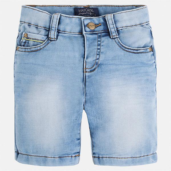 Бриджи джинсовые для мальчика MayoralШорты, бриджи, капри<br>Характеристики товара:<br><br>• цвет: голубой<br>• состав: текстиль<br>• шлевки<br>• карманы<br>• пояс с регулировкой объема<br>• имитация потертости<br>• страна бренда: Испания<br><br>Модные бриджи для мальчика смогут стать базовой вещью в гардеробе ребенка. Они отлично сочетаются с майками, футболками, рубашками и т.д. Универсальный крой и цвет позволяет подобрать к вещи верх разных расцветок. Практичное и стильное изделие! В составе материала - натуральный хлопок, гипоаллергенный, приятный на ощупь, дышащий.<br><br>Одежда, обувь и аксессуары от испанского бренда Mayoral полюбились детям и взрослым по всему миру. Модели этой марки - стильные и удобные. Для их производства используются только безопасные, качественные материалы и фурнитура. Порадуйте ребенка модными и красивыми вещами от Mayoral! <br><br>Бриджи для мальчика от испанского бренда Mayoral (Майорал) можно купить в нашем интернет-магазине.<br>Ширина мм: 191; Глубина мм: 10; Высота мм: 175; Вес г: 273; Цвет: синий; Возраст от месяцев: 24; Возраст до месяцев: 36; Пол: Мужской; Возраст: Детский; Размер: 122,128,116,104,98,92,110,134; SKU: 5272549;