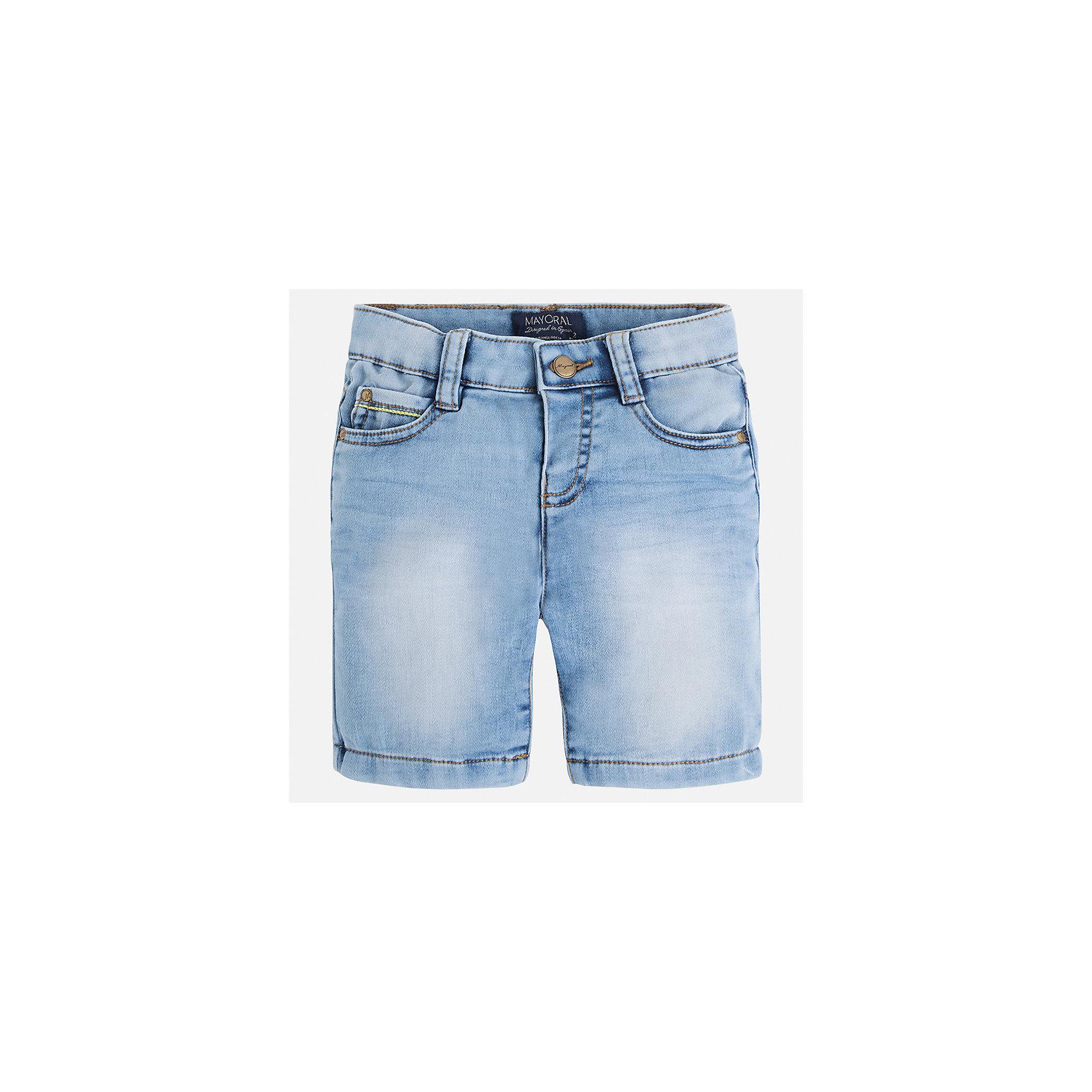 Бриджи джинсовые для мальчика MayoralДжинсовая одежда<br>Характеристики товара:<br><br>• цвет: голубой<br>• состав: текстиль<br>• шлевки<br>• карманы<br>• пояс с регулировкой объема<br>• имитация потертости<br>• страна бренда: Испания<br><br>Модные бриджи для мальчика смогут стать базовой вещью в гардеробе ребенка. Они отлично сочетаются с майками, футболками, рубашками и т.д. Универсальный крой и цвет позволяет подобрать к вещи верх разных расцветок. Практичное и стильное изделие! В составе материала - натуральный хлопок, гипоаллергенный, приятный на ощупь, дышащий.<br><br>Одежда, обувь и аксессуары от испанского бренда Mayoral полюбились детям и взрослым по всему миру. Модели этой марки - стильные и удобные. Для их производства используются только безопасные, качественные материалы и фурнитура. Порадуйте ребенка модными и красивыми вещами от Mayoral! <br><br>Бриджи для мальчика от испанского бренда Mayoral (Майорал) можно купить в нашем интернет-магазине.<br><br>Ширина мм: 191<br>Глубина мм: 10<br>Высота мм: 175<br>Вес г: 273<br>Цвет: синий<br>Возраст от месяцев: 18<br>Возраст до месяцев: 24<br>Пол: Мужской<br>Возраст: Детский<br>Размер: 134,110,116,128,122,92,98,104<br>SKU: 5272549