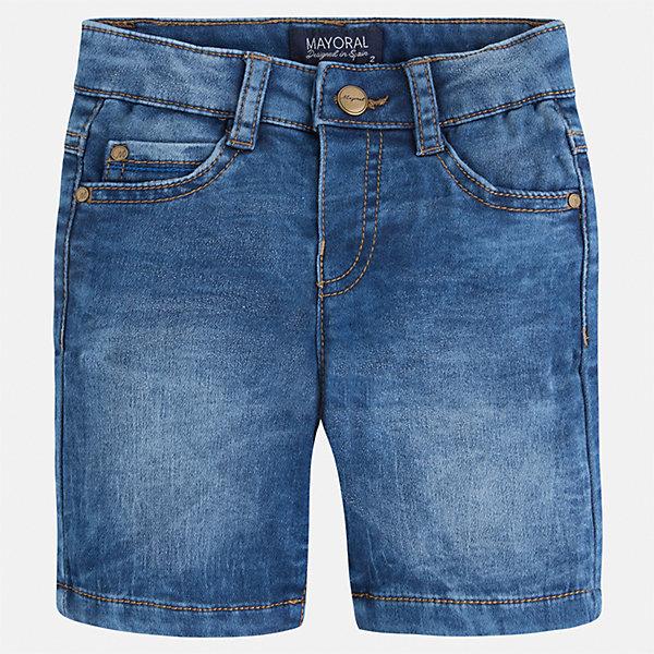 Бриджи джинсовые для мальчика MayoralШорты, бриджи, капри<br>Характеристики товара:<br><br>• цвет: джинс<br>• состав: текстиль<br>• шлевки<br>• карманы<br>• пояс с регулировкой объема<br>• имитация потертости<br>• страна бренда: Испания<br><br>Модные бриджи для мальчика смогут стать базовой вещью в гардеробе ребенка. Они отлично сочетаются с майками, футболками, рубашками и т.д. Универсальный крой и цвет позволяет подобрать к вещи верх разных расцветок. Практичное и стильное изделие! В составе материала - натуральный хлопок, гипоаллергенный, приятный на ощупь, дышащий.<br><br>Одежда, обувь и аксессуары от испанского бренда Mayoral полюбились детям и взрослым по всему миру. Модели этой марки - стильные и удобные. Для их производства используются только безопасные, качественные материалы и фурнитура. Порадуйте ребенка модными и красивыми вещами от Mayoral! <br><br>Бриджи для мальчика от испанского бренда Mayoral (Майорал) можно купить в нашем интернет-магазине.<br>Ширина мм: 191; Глубина мм: 10; Высота мм: 175; Вес г: 273; Цвет: синий; Возраст от месяцев: 36; Возраст до месяцев: 48; Пол: Мужской; Возраст: Детский; Размер: 104,116,128,92,98,110,134,122; SKU: 5272558;