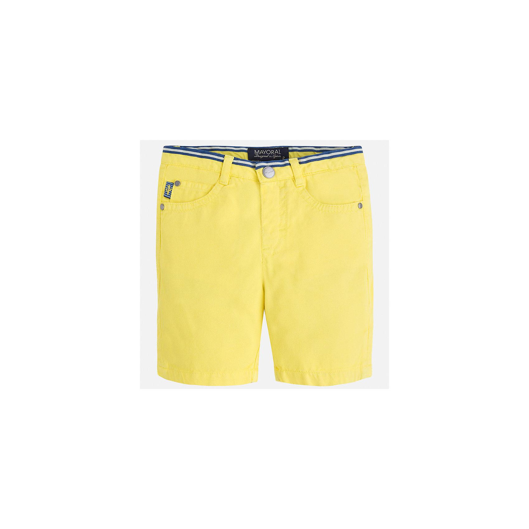 Бриджи для мальчика MayoralШорты, бриджи, капри<br>Характеристики товара:<br><br>• цвет: желтый<br>• состав: 100% хлопок<br>• шлевки<br>• карманы<br>• пояс с регулировкой объема<br>• классический крой<br>• страна бренда: Испания<br><br>Модные бриджи для мальчика смогут стать базовой вещью в гардеробе ребенка. Они отлично сочетаются с майками, футболками, рубашками и т.д. Универсальный крой и цвет позволяет подобрать к вещи верх разных расцветок. Практичное и стильное изделие! В составе материала - натуральный хлопок, гипоаллергенный, приятный на ощупь, дышащий.<br><br>Одежда, обувь и аксессуары от испанского бренда Mayoral полюбились детям и взрослым по всему миру. Модели этой марки - стильные и удобные. Для их производства используются только безопасные, качественные материалы и фурнитура. Порадуйте ребенка модными и красивыми вещами от Mayoral! <br><br>Бриджи для мальчика от испанского бренда Mayoral (Майорал) можно купить в нашем интернет-магазине.<br><br>Ширина мм: 191<br>Глубина мм: 10<br>Высота мм: 175<br>Вес г: 273<br>Цвет: желтый<br>Возраст от месяцев: 60<br>Возраст до месяцев: 72<br>Пол: Мужской<br>Возраст: Детский<br>Размер: 116,104,92,122,134,98,128,110<br>SKU: 5272567