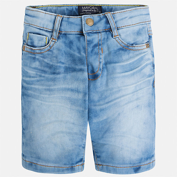 Бриджи джинсовые для мальчика MayoralШорты, бриджи, капри<br>Характеристики товара:<br><br>• цвет: голубой<br>• состав: 97% хлопок, 3% эластан<br>• шлевки<br>• карманы<br>• пояс с регулировкой объема<br>• имитация потертости<br>• страна бренда: Испания<br><br>Модные бриджи для мальчика смогут стать базовой вещью в гардеробе ребенка. Они отлично сочетаются с майками, футболками, рубашками и т.д. Универсальный крой и цвет позволяет подобрать к вещи верх разных расцветок. Практичное и стильное изделие! В составе материала - натуральный хлопок, гипоаллергенный, приятный на ощупь, дышащий.<br><br>Одежда, обувь и аксессуары от испанского бренда Mayoral полюбились детям и взрослым по всему миру. Модели этой марки - стильные и удобные. Для их производства используются только безопасные, качественные материалы и фурнитура. Порадуйте ребенка модными и красивыми вещами от Mayoral! <br><br>Бриджи для мальчика от испанского бренда Mayoral (Майорал) можно купить в нашем интернет-магазине.<br>Ширина мм: 191; Глубина мм: 10; Высота мм: 175; Вес г: 273; Цвет: синий; Возраст от месяцев: 18; Возраст до месяцев: 24; Пол: Мужской; Возраст: Детский; Размер: 92,128,98,104,110,116,122,134; SKU: 5272585;