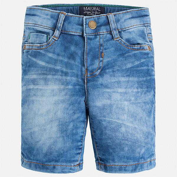 Бриджи джинсовые для мальчика MayoralДжинсовая одежда<br>Характеристики товара:<br><br>• цвет: синий<br>• состав: 97% хлопок, 3% эластан<br>• шлевки<br>• карманы<br>• пояс с регулировкой объема<br>• имитация потертости<br>• страна бренда: Испания<br><br>Модные бриджи для мальчика смогут стать базовой вещью в гардеробе ребенка. Они отлично сочетаются с майками, футболками, рубашками и т.д. Универсальный крой и цвет позволяет подобрать к вещи верх разных расцветок. Практичное и стильное изделие! В составе материала - натуральный хлопок, гипоаллергенный, приятный на ощупь, дышащий.<br><br>Одежда, обувь и аксессуары от испанского бренда Mayoral полюбились детям и взрослым по всему миру. Модели этой марки - стильные и удобные. Для их производства используются только безопасные, качественные материалы и фурнитура. Порадуйте ребенка модными и красивыми вещами от Mayoral! <br><br>Бриджи для мальчика от испанского бренда Mayoral (Майорал) можно купить в нашем интернет-магазине.<br><br>Ширина мм: 191<br>Глубина мм: 10<br>Высота мм: 175<br>Вес г: 273<br>Цвет: синий<br>Возраст от месяцев: 96<br>Возраст до месяцев: 108<br>Пол: Мужской<br>Возраст: Детский<br>Размер: 134,128,110,122,92,98,104,116<br>SKU: 5272594