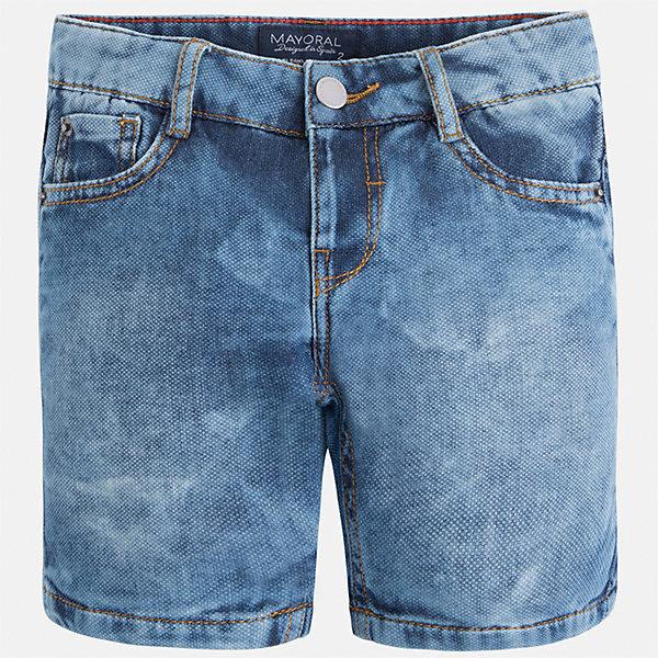 Бриджи джинсовые для мальчика MayoralШорты, бриджи, капри<br>Характеристики товара:<br><br>• цвет: синий<br>• состав: 100% хлопок<br>• шлевки<br>• карманы<br>• пояс с регулировкой объема<br>• имитация потертости<br>• страна бренда: Испания<br><br>Модные бриджи для мальчика смогут стать базовой вещью в гардеробе ребенка. Они отлично сочетаются с майками, футболками, рубашками и т.д. Универсальный крой и цвет позволяет подобрать к вещи верх разных расцветок. Практичное и стильное изделие! В составе материала - натуральный хлопок, гипоаллергенный, приятный на ощупь, дышащий.<br><br>Одежда, обувь и аксессуары от испанского бренда Mayoral полюбились детям и взрослым по всему миру. Модели этой марки - стильные и удобные. Для их производства используются только безопасные, качественные материалы и фурнитура. Порадуйте ребенка модными и красивыми вещами от Mayoral! <br><br>Бриджи для мальчика от испанского бренда Mayoral (Майорал) можно купить в нашем интернет-магазине.<br>Ширина мм: 191; Глубина мм: 10; Высота мм: 175; Вес г: 273; Цвет: голубой; Возраст от месяцев: 18; Возраст до месяцев: 24; Пол: Мужской; Возраст: Детский; Размер: 92,98,104,110,116,122,128,134; SKU: 5272603;