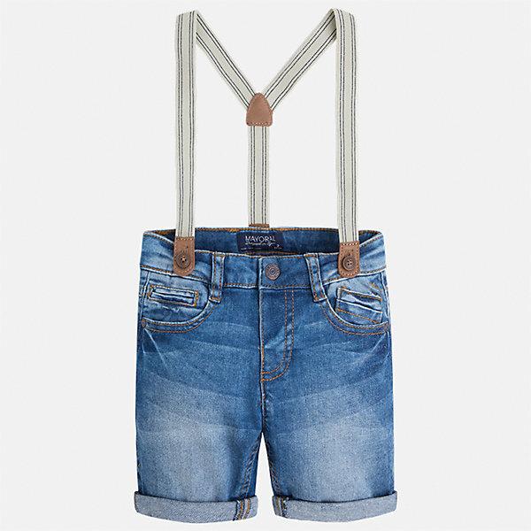 Бриджи джинсовые для мальчика MayoralДжинсовая одежда<br>Характеристики товара:<br><br>• цвет: голубой<br>• состав: 98% хлопок, 2% эластан<br>• шлевки<br>• карманы<br>• пояс с регулировкой объема<br>• подтяжки в комплекте<br>• страна бренда: Испания<br><br>Стильные удобные бриджи для мальчика смогут стать базовой вещью в гардеробе ребенка. Они отлично сочетаются с майками, футболками, рубашками и т.д. Универсальный крой и цвет позволяет подобрать к вещи верх разных расцветок. Практичное и стильное изделие! В составе материала - натуральный хлопок, гипоаллергенный, приятный на ощупь, дышащий.<br><br>Одежда, обувь и аксессуары от испанского бренда Mayoral полюбились детям и взрослым по всему миру. Модели этой марки - стильные и удобные. Для их производства используются только безопасные, качественные материалы и фурнитура. Порадуйте ребенка модными и красивыми вещами от Mayoral! <br><br>Бриджи для мальчика от испанского бренда Mayoral (Майорал) можно купить в нашем интернет-магазине.<br><br>Ширина мм: 191<br>Глубина мм: 10<br>Высота мм: 175<br>Вес г: 273<br>Цвет: голубой<br>Возраст от месяцев: 36<br>Возраст до месяцев: 48<br>Пол: Мужской<br>Возраст: Детский<br>Размер: 104,116,92,98,122,128,110,134<br>SKU: 5272612