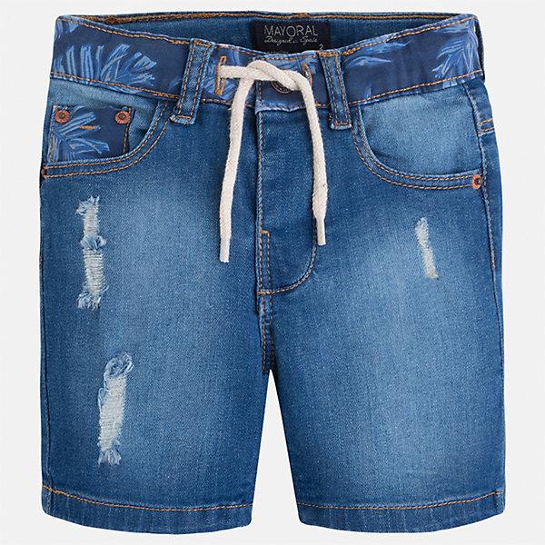 Бриджи джинсовые для мальчика MayoralДжинсовая одежда<br>Характеристики товара:<br><br>• цвет: синий<br>• состав: 97% хлопок, 3% эластан<br>• шлевки<br>• карманы<br>• пояс с регулировкой объема<br>• имитация потертости<br>• страна бренда: Испания<br><br>Модные бриджи для мальчика смогут стать базовой вещью в гардеробе ребенка. Они отлично сочетаются с майками, футболками, рубашками и т.д. Универсальный крой и цвет позволяет подобрать к вещи верх разных расцветок. Практичное и стильное изделие! В составе материала - натуральный хлопок, гипоаллергенный, приятный на ощупь, дышащий.<br><br>Одежда, обувь и аксессуары от испанского бренда Mayoral полюбились детям и взрослым по всему миру. Модели этой марки - стильные и удобные. Для их производства используются только безопасные, качественные материалы и фурнитура. Порадуйте ребенка модными и красивыми вещами от Mayoral! <br><br>Бриджи для мальчика от испанского бренда Mayoral (Майорал) можно купить в нашем интернет-магазине.<br>Ширина мм: 191; Глубина мм: 10; Высота мм: 175; Вес г: 273; Цвет: голубой; Возраст от месяцев: 96; Возраст до месяцев: 108; Пол: Мужской; Возраст: Детский; Размер: 134,128,110,98,92,104,116,122; SKU: 5272684;