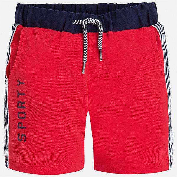 Бриджи для мальчика MayoralШорты, бриджи, капри<br>Характеристики товара:<br><br>• цвет: красный<br>• состав: 95% хлопок, 5% эластан<br>• средняя длина<br>• принт<br>• пояс - резинка со шнурком<br>• мягкий материал<br>• страна бренда: Испания<br><br>Спортивные бриджи для мальчика помогут обеспечить ребенку комфорт. Они отлично сочетаются с майками, футболками, курточками в спортивном стиле. Универсальный крой и цвет позволяет подобрать к вещи верх разных расцветок. Практичное и стильное изделие! В составе материала - натуральный хлопок, гипоаллергенный, приятный на ощупь, дышащий.<br><br>Одежда, обувь и аксессуары от испанского бренда Mayoral полюбились детям и взрослым по всему миру. Модели этой марки - стильные и удобные. Для их производства используются только безопасные, качественные материалы и фурнитура. Порадуйте ребенка модными и красивыми вещами от Mayoral! <br><br>Бриджи для мальчика от испанского бренда Mayoral (Майорал) можно купить в нашем интернет-магазине.<br><br>Ширина мм: 191<br>Глубина мм: 10<br>Высота мм: 175<br>Вес г: 273<br>Цвет: розовый<br>Возраст от месяцев: 84<br>Возраст до месяцев: 96<br>Пол: Мужской<br>Возраст: Детский<br>Размер: 128,134,116,122<br>SKU: 5272746