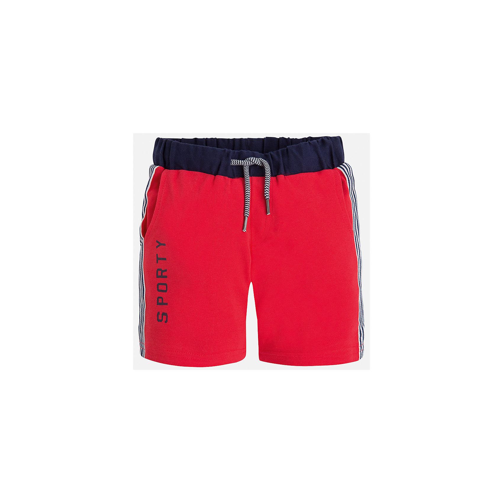 Бриджи для мальчика MayoralШорты, бриджи, капри<br>Характеристики товара:<br><br>• цвет: красный<br>• состав: 95% хлопок, 5% эластан<br>• средняя длина<br>• принт<br>• пояс - резинка со шнурком<br>• мягкий материал<br>• страна бренда: Испания<br><br>Спортивные бриджи для мальчика помогут обеспечить ребенку комфорт. Они отлично сочетаются с майками, футболками, курточками в спортивном стиле. Универсальный крой и цвет позволяет подобрать к вещи верх разных расцветок. Практичное и стильное изделие! В составе материала - натуральный хлопок, гипоаллергенный, приятный на ощупь, дышащий.<br><br>Одежда, обувь и аксессуары от испанского бренда Mayoral полюбились детям и взрослым по всему миру. Модели этой марки - стильные и удобные. Для их производства используются только безопасные, качественные материалы и фурнитура. Порадуйте ребенка модными и красивыми вещами от Mayoral! <br><br>Бриджи для мальчика от испанского бренда Mayoral (Майорал) можно купить в нашем интернет-магазине.<br><br>Ширина мм: 191<br>Глубина мм: 10<br>Высота мм: 175<br>Вес г: 273<br>Цвет: розовый<br>Возраст от месяцев: 96<br>Возраст до месяцев: 108<br>Пол: Мужской<br>Возраст: Детский<br>Размер: 134,128,122,116<br>SKU: 5272746