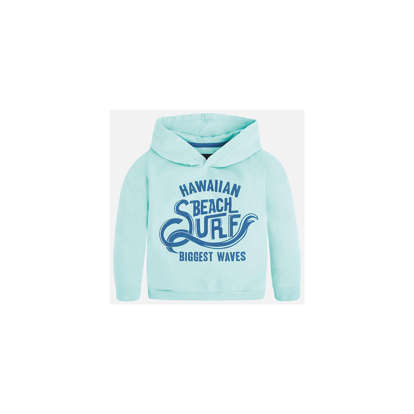 Толстовка для мальчика MayoralЛови волну<br>Характеристики товара:<br><br>• цвет: зеленый<br>• состав: 80% хлопок, 20% полиэстер<br>• рукава длинные <br>• принт<br>• манжеты<br>• капюшон<br>• страна бренда: Испания<br><br>Теплая одежда может быть очень стильной! Удобный и красивый свитер для мальчика поможет разнообразить гардероб ребенка и обеспечить комфорт. Он отлично сочетается и с джинсами, и с брюками. Универсальный цвет позволяет подобрать к вещи низ различных расцветок. Интересная отделка модели делает её нарядной и оригинальной. В составе материала - натуральный хлопок, гипоаллергенный, приятный на ощупь, дышащий.<br><br>Одежда, обувь и аксессуары от испанского бренда Mayoral полюбились детям и взрослым по всему миру. Модели этой марки - стильные и удобные. Для их производства используются только безопасные, качественные материалы и фурнитура. Порадуйте ребенка модными и красивыми вещами от Mayoral! <br><br>Свитер для мальчика от испанского бренда Mayoral (Майорал) можно купить в нашем интернет-магазине.<br><br>Ширина мм: 190<br>Глубина мм: 74<br>Высота мм: 229<br>Вес г: 236<br>Цвет: зеленый<br>Возраст от месяцев: 24<br>Возраст до месяцев: 36<br>Пол: Мужской<br>Возраст: Детский<br>Размер: 98,104,92,128,134,122,116,110<br>SKU: 5272846