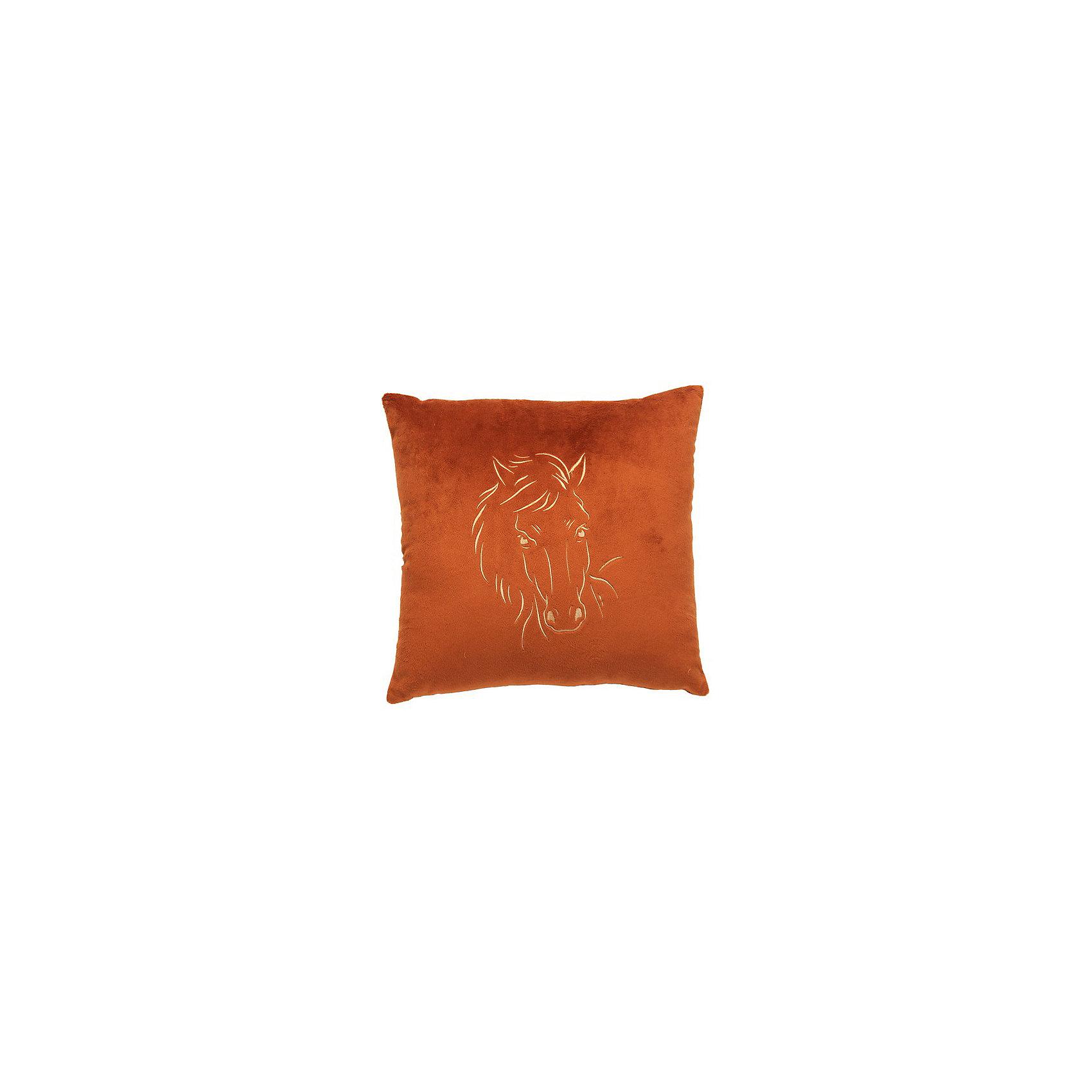 Декоративная подушка Лошадь арт. 1845-1, Small Toys, коричневый