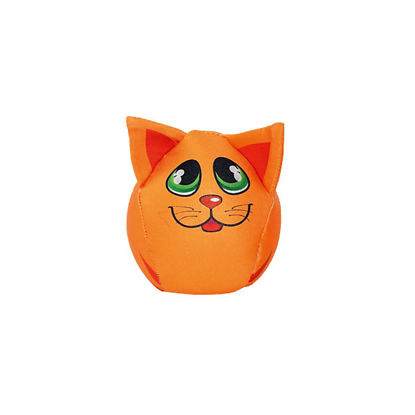 Котик-шарик 8*8*8, арт. 2612-1, Small Toys, оранжевый