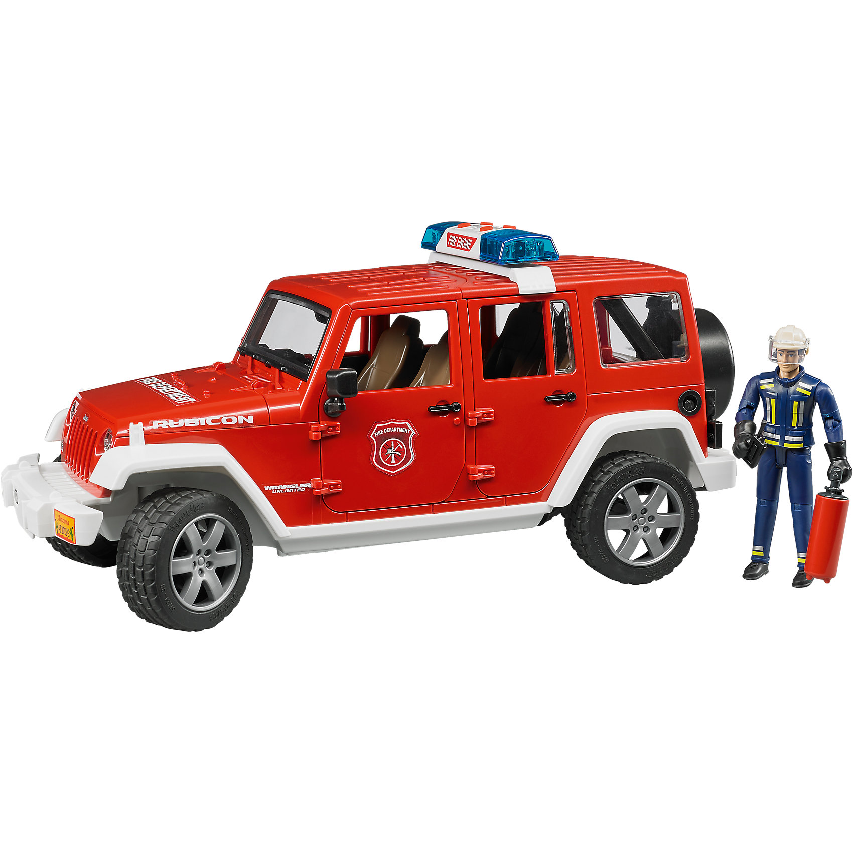 Внедорожник Jeep Wrangler Unlimited Rubicon Пожарная с фигуркой, BruderМашинки<br><br><br>Ширина мм: 510<br>Глубина мм: 180<br>Высота мм: 193<br>Вес г: 1196<br>Возраст от месяцев: 36<br>Возраст до месяцев: 84<br>Пол: Мужской<br>Возраст: Детский<br>SKU: 5274490