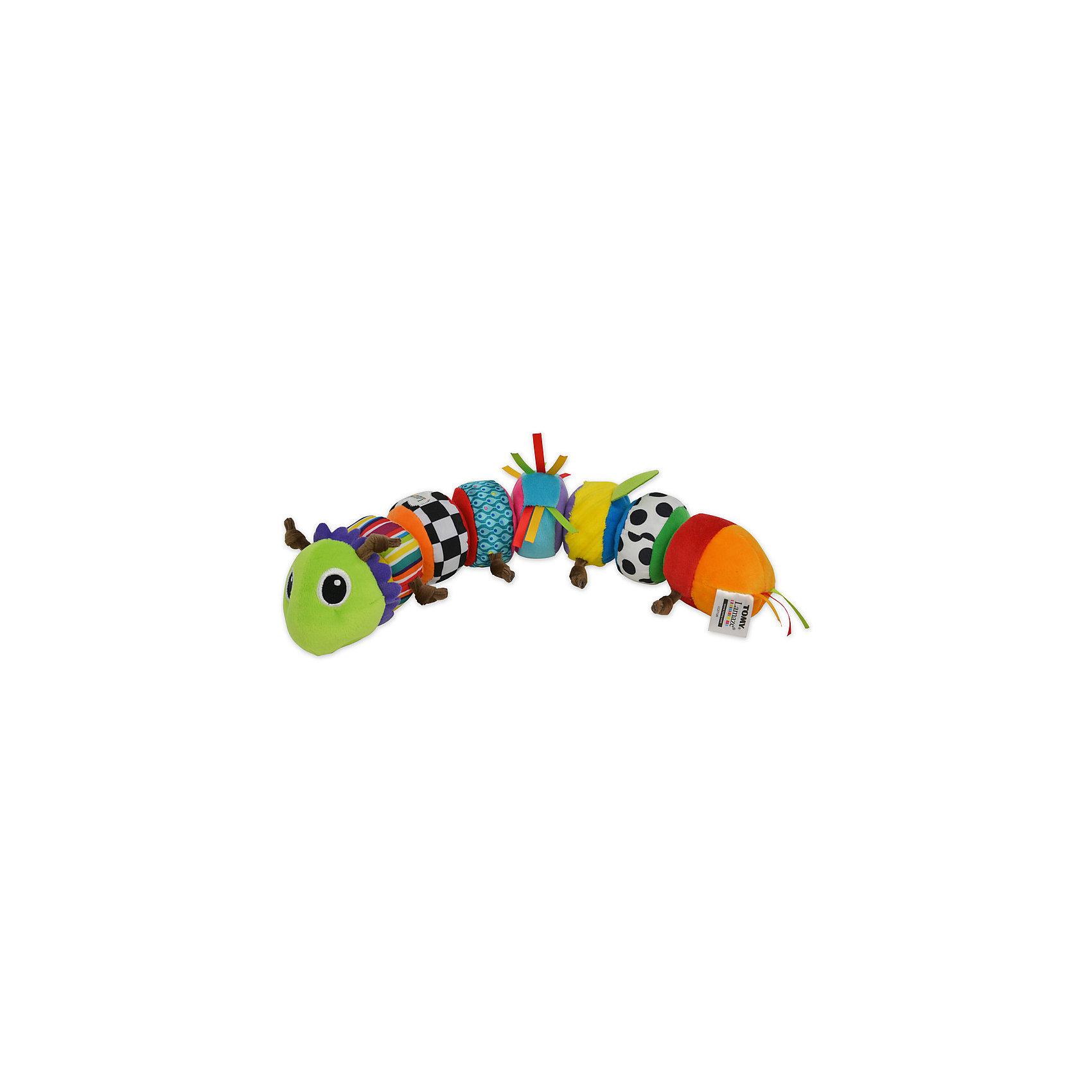Гусеница Меняй и собирай, LamazeРазвивающие игрушки<br>Характеристики гусеницы Меняй и собирай: <br><br>- возраст: от 6 месяцев<br>- пол: для мальчиков и девочек<br>- комплект: 8 сегментов.<br>- материал: текстиль, наполнитель.<br>- размер упаковки: 8.4 *7.5 * 40 см.<br>- упаковка: картонная коробка открытого типа.<br>- страна обладатель бренда: Великобритания.<br><br>Мягкая игрушка Гусеница из серии Меняй и собирай от торговой марки Tomy состоит из восьми отдельных частей, которые ребенку предлагается соединять между собой - это занятие будет развивать мышление ребенка, конструктивные способности, смекалку объективное восприятие.<br>Элементы игрушки выполнены в ярких цветах, что может привлечь внимание малыша. Детали легко соединяются между собой с помощью липучек. Игрушка имеет разнофактурную поверхность, благодаря чему ребенок сможет тренировать мелкую моторику и тактильные навыки.<br><br>Мягкую игрушку Гусеница торговой марки  Tomy (Томи) можно купить в нашем интернет-магазине.<br><br>Ширина мм: 215<br>Глубина мм: 80<br>Высота мм: 254<br>Вес г: 405<br>Возраст от месяцев: 0<br>Возраст до месяцев: 24<br>Пол: Унисекс<br>Возраст: Детский<br>SKU: 5274985