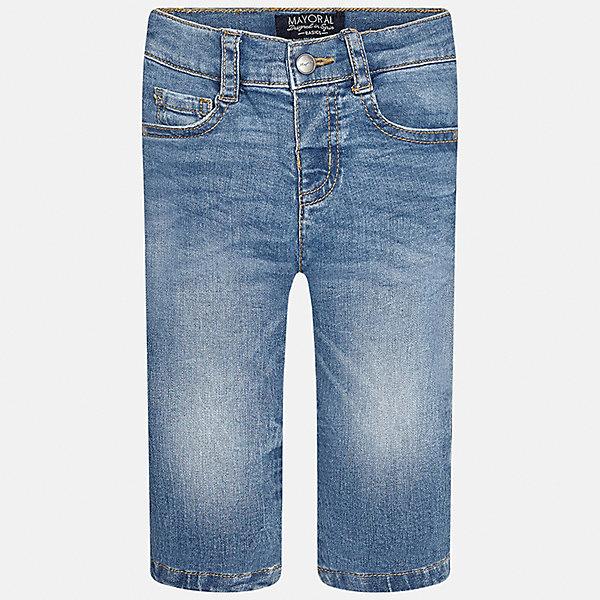 Джинсы для мальчика MayoralДжинсы и брючки<br>Характеристики товара:<br><br>• цвет: синий<br>• состав: 99% хлопок, 1% эластан<br>• имитация потертостей<br>• шлевки<br>• карманы<br>• пояс с регулировкой объема<br>• классический силуэт<br>• страна бренда: Испания<br><br>Модные брюки для мальчика смогут стать базовой вещью в гардеробе ребенка. Они отлично сочетаются с майками, футболками, рубашками и т.д. Универсальный крой и цвет позволяет подобрать к вещи верх разных расцветок. Практичное и стильное изделие! В составе материала - натуральный хлопок, гипоаллергенный, приятный на ощупь, дышащий.<br><br>Одежда, обувь и аксессуары от испанского бренда Mayoral полюбились детям и взрослым по всему миру. Модели этой марки - стильные и удобные. Для их производства используются только безопасные, качественные материалы и фурнитура. Порадуйте ребенка модными и красивыми вещами от Mayoral! <br><br>Брюки для мальчика от испанского бренда Mayoral (Майорал) можно купить в нашем интернет-магазине.<br><br>Ширина мм: 215<br>Глубина мм: 88<br>Высота мм: 191<br>Вес г: 336<br>Цвет: синий<br>Возраст от месяцев: 12<br>Возраст до месяцев: 18<br>Пол: Мужской<br>Возраст: Детский<br>Размер: 86,92,80<br>SKU: 5277620