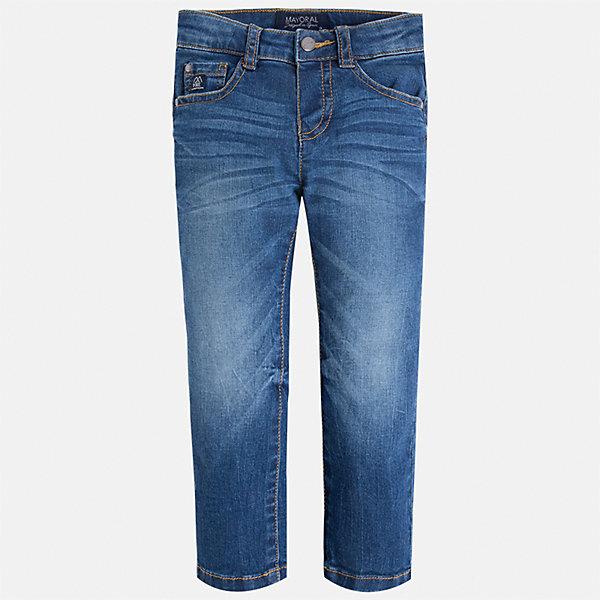 Джинсы для мальчика MayoralДжинсовая одежда<br>Характеристики товара:<br><br>• цвет: синий<br>• состав: 99% хлопок, 1% эластан<br>• имитация потертостей<br>• шлевки<br>• карманы<br>• классический силуэт<br>• страна бренда: Испания<br><br>Модные джинсы для мальчика смогут стать базовой вещью в гардеробе ребенка. Они отлично сочетаются с майками, футболками, рубашками и т.д. Универсальный крой и цвет позволяет подобрать к вещи верх разных расцветок. Практичное и стильное изделие! В составе материала - натуральный хлопок, гипоаллергенный, приятный на ощупь, дышащий.<br><br>Одежда, обувь и аксессуары от испанского бренда Mayoral полюбились детям и взрослым по всему миру. Модели этой марки - стильные и удобные. Для их производства используются только безопасные, качественные материалы и фурнитура. Порадуйте ребенка модными и красивыми вещами от Mayoral! <br><br>Джинсы для мальчика от испанского бренда Mayoral (Майорал) можно купить в нашем интернет-магазине.<br><br>Ширина мм: 215<br>Глубина мм: 88<br>Высота мм: 191<br>Вес г: 336<br>Цвет: синий<br>Возраст от месяцев: 24<br>Возраст до месяцев: 36<br>Пол: Мужской<br>Возраст: Детский<br>Размер: 98,134,92,104,110,116,122,128<br>SKU: 5277624