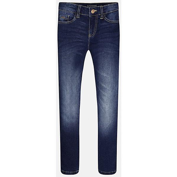 Джинсы для мальчика MayoralДжинсы<br>Характеристики товара:<br><br>• цвет: синий<br>• состав: 99% хлопок, 1% эластан<br>• имитация потертостей<br>• шлевки<br>• карманы<br>• пояс с регулировкой объема<br>• классический силуэт<br>• страна бренда: Испания<br><br>Стильные удобные брюки для мальчика смогут стать базовой вещью в гардеробе ребенка. Они отлично сочетаются с майками, футболками, рубашками и т.д. Универсальный крой и цвет позволяет подобрать к вещи верх разных расцветок. Практичное и стильное изделие! В составе материала - натуральный хлопок, гипоаллергенный, приятный на ощупь, дышащий.<br><br>Одежда, обувь и аксессуары от испанского бренда Mayoral полюбились детям и взрослым по всему миру. Модели этой марки - стильные и удобные. Для их производства используются только безопасные, качественные материалы и фурнитура. Порадуйте ребенка модными и красивыми вещами от Mayoral! <br><br>Джинсы для мальчика от испанского бренда Mayoral (Майорал) можно купить в нашем интернет-магазине.<br>Ширина мм: 215; Глубина мм: 88; Высота мм: 191; Вес г: 336; Цвет: синий; Возраст от месяцев: 132; Возраст до месяцев: 144; Пол: Мужской; Возраст: Детский; Размер: 158,128/134,170,164,152,140; SKU: 5277634;