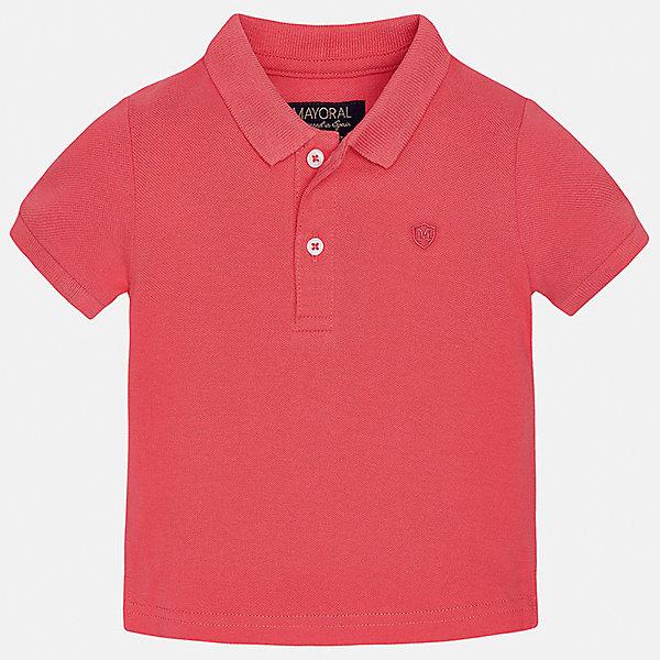 Рубашка-поло для мальчика MayoralФутболки, топы<br>Характеристики товара:<br><br>• цвет: красный<br>• состав: 100% хлопок<br>• отложной воротник<br>• короткие рукава<br>• застежка: пуговицы<br>• вышивка на груди<br>• страна бренда: Испания<br><br>Удобная и модная футболка-поло для мальчика может стать базовой вещью в гардеробе ребенка. Она отлично сочетается с брюками, шортами, джинсами и т.д. Универсальный крой и цвет позволяет подобрать к вещи низ разных расцветок. Практичное и стильное изделие! В составе материала - только натуральный хлопок, гипоаллергенный, приятный на ощупь, дышащий.<br><br>Одежда, обувь и аксессуары от испанского бренда Mayoral полюбились детям и взрослым по всему миру. Модели этой марки - стильные и удобные. Для их производства используются только безопасные, качественные материалы и фурнитура. Порадуйте ребенка модными и красивыми вещами от Mayoral! <br><br>Футболку-поло для мальчика от испанского бренда Mayoral (Майорал) можно купить в нашем интернет-магазине.<br>Ширина мм: 230; Глубина мм: 40; Высота мм: 220; Вес г: 250; Цвет: розовый; Возраст от месяцев: 6; Возраст до месяцев: 9; Пол: Мужской; Возраст: Детский; Размер: 74,80,86,92; SKU: 5277648;
