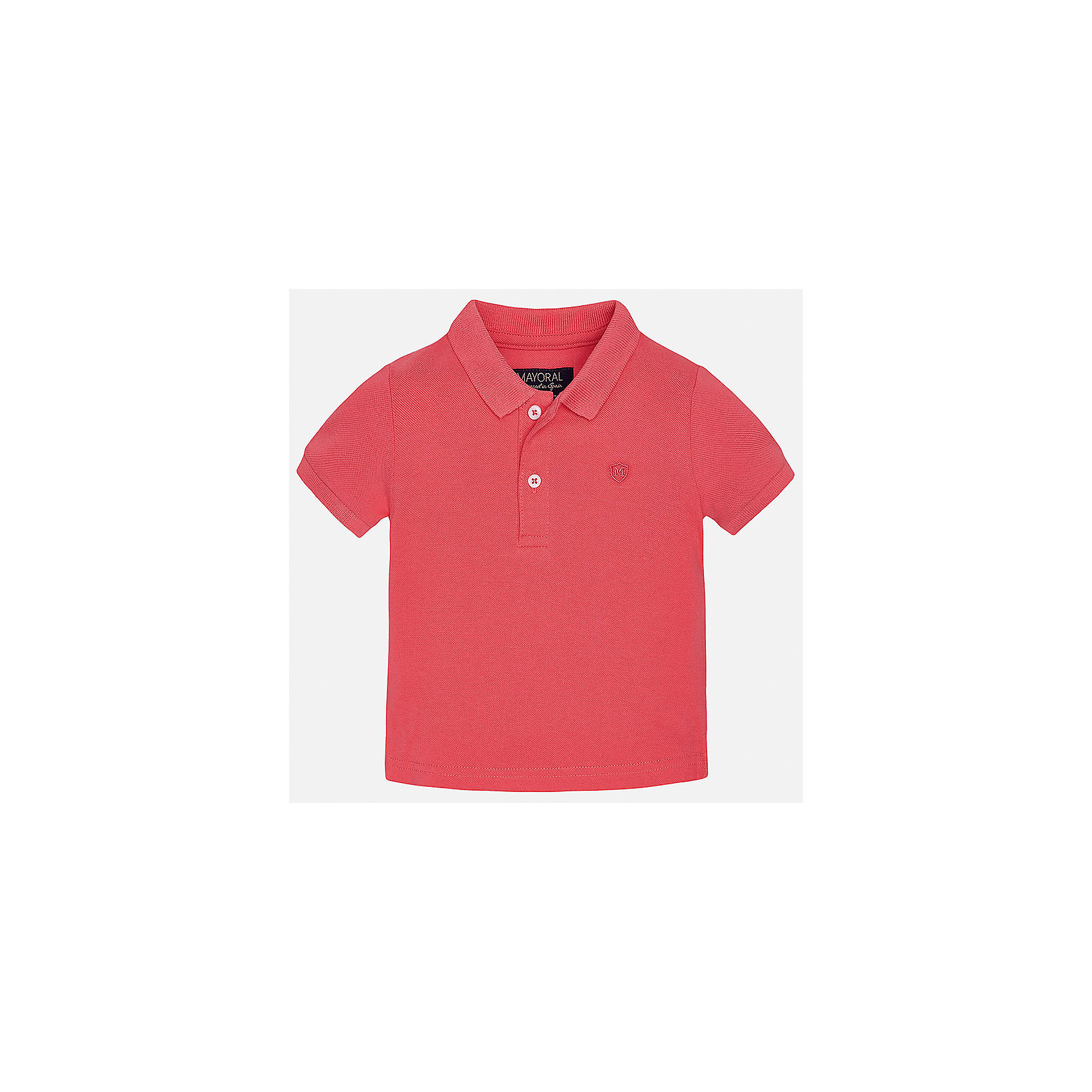 Рубашка-поло для мальчика MayoralФутболки, топы<br>Характеристики товара:<br><br>• цвет: красный<br>• состав: 100% хлопок<br>• отложной воротник<br>• короткие рукава<br>• застежка: пуговицы<br>• вышивка на груди<br>• страна бренда: Испания<br><br>Удобная и модная футболка-поло для мальчика может стать базовой вещью в гардеробе ребенка. Она отлично сочетается с брюками, шортами, джинсами и т.д. Универсальный крой и цвет позволяет подобрать к вещи низ разных расцветок. Практичное и стильное изделие! В составе материала - только натуральный хлопок, гипоаллергенный, приятный на ощупь, дышащий.<br><br>Одежда, обувь и аксессуары от испанского бренда Mayoral полюбились детям и взрослым по всему миру. Модели этой марки - стильные и удобные. Для их производства используются только безопасные, качественные материалы и фурнитура. Порадуйте ребенка модными и красивыми вещами от Mayoral! <br><br>Футболку-поло для мальчика от испанского бренда Mayoral (Майорал) можно купить в нашем интернет-магазине.<br><br>Ширина мм: 230<br>Глубина мм: 40<br>Высота мм: 220<br>Вес г: 250<br>Цвет: розовый<br>Возраст от месяцев: 6<br>Возраст до месяцев: 9<br>Пол: Мужской<br>Возраст: Детский<br>Размер: 74,80,86,92<br>SKU: 5277648