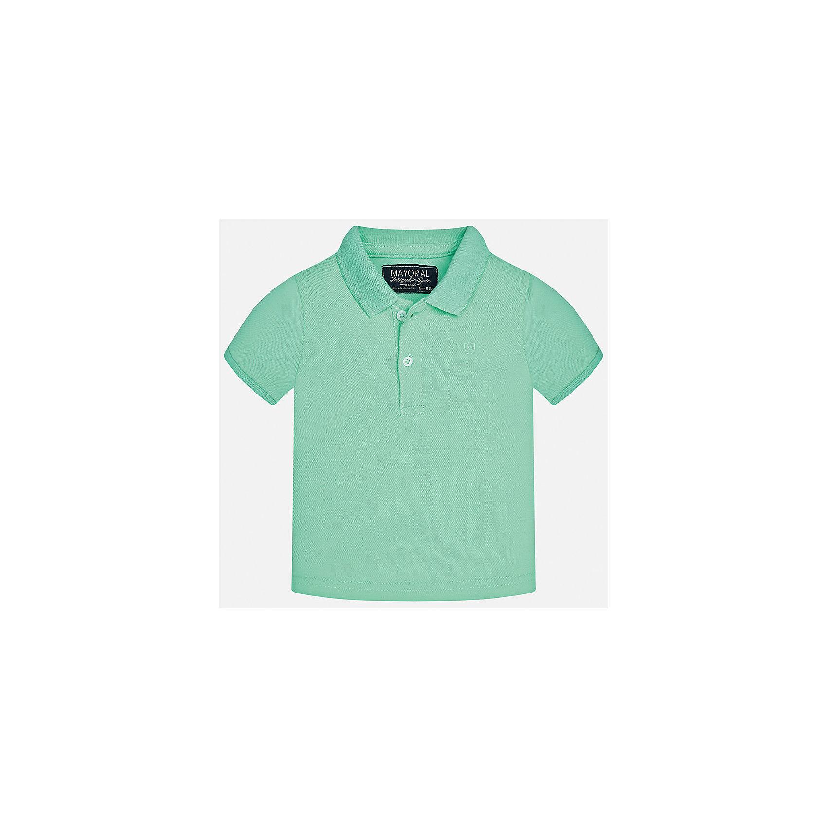 Футболка-поло для мальчика MayoralФутболки, поло и топы<br>Характеристики товара:<br><br>• цвет: зеленый<br>• состав: 100% хлопок<br>• отложной воротник<br>• короткие рукава<br>• застежка: пуговицы<br>• вышивка на груди<br>• страна бренда: Испания<br><br>Удобная и модная футболка-поло для мальчика может стать базовой вещью в гардеробе ребенка. Она отлично сочетается с брюками, шортами, джинсами и т.д. Универсальный крой и цвет позволяет подобрать к вещи низ разных расцветок. Практичное и стильное изделие! В составе материала - только натуральный хлопок, гипоаллергенный, приятный на ощупь, дышащий.<br><br>Одежда, обувь и аксессуары от испанского бренда Mayoral полюбились детям и взрослым по всему миру. Модели этой марки - стильные и удобные. Для их производства используются только безопасные, качественные материалы и фурнитура. Порадуйте ребенка модными и красивыми вещами от Mayoral! <br><br>Футболку-поло для мальчика от испанского бренда Mayoral (Майорал) можно купить в нашем интернет-магазине.<br><br>Ширина мм: 230<br>Глубина мм: 40<br>Высота мм: 220<br>Вес г: 250<br>Цвет: зеленый<br>Возраст от месяцев: 6<br>Возраст до месяцев: 9<br>Пол: Мужской<br>Возраст: Детский<br>Размер: 74,92,86,80<br>SKU: 5277658