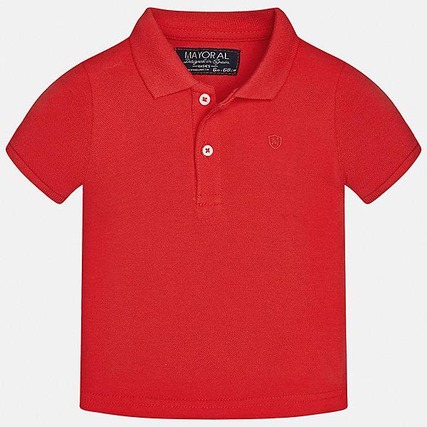 Футболка-поло для мальчика MayoralФутболки, топы<br>Характеристики товара:<br><br>• цвет: красный<br>• состав: 100% хлопок<br>• отложной воротник<br>• короткие рукава<br>• застежка: пуговицы<br>• вышивка на груди<br>• страна бренда: Испания<br><br>Удобная и модная футболка-поло для мальчика может стать базовой вещью в гардеробе ребенка. Она отлично сочетается с брюками, шортами, джинсами и т.д. Универсальный крой и цвет позволяет подобрать к вещи низ разных расцветок. Практичное и стильное изделие! В составе материала - только натуральный хлопок, гипоаллергенный, приятный на ощупь, дышащий.<br><br>Одежда, обувь и аксессуары от испанского бренда Mayoral полюбились детям и взрослым по всему миру. Модели этой марки - стильные и удобные. Для их производства используются только безопасные, качественные материалы и фурнитура. Порадуйте ребенка модными и красивыми вещами от Mayoral! <br><br>Футболку-поло для мальчика от испанского бренда Mayoral (Майорал) можно купить в нашем интернет-магазине.<br><br>Ширина мм: 230<br>Глубина мм: 40<br>Высота мм: 220<br>Вес г: 250<br>Цвет: розовый<br>Возраст от месяцев: 6<br>Возраст до месяцев: 9<br>Пол: Мужской<br>Возраст: Детский<br>Размер: 74,80,86,92<br>SKU: 5277663