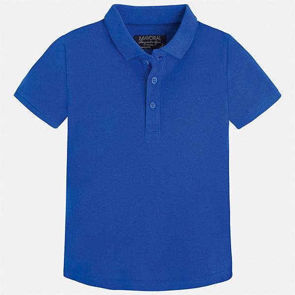 Футболка-поло для мальчика MayoralФутболки, поло и топы<br>Характеристики товара:<br><br>• цвет: синий<br>• состав: 100% хлопок<br>• отложной воротник<br>• короткие рукава<br>• застежка: пуговицы<br>• вышивка на груди<br>• страна бренда: Испания<br><br>Стильная удобная футболка-поло для мальчика может стать базовой вещью в гардеробе ребенка. Она отлично сочетается с брюками, шортами, джинсами и т.д. Универсальный крой и цвет позволяет подобрать к вещи низ разных расцветок. Практичное и стильное изделие! В составе материала - только натуральный хлопок, гипоаллергенный, приятный на ощупь, дышащий.<br><br>Одежда, обувь и аксессуары от испанского бренда Mayoral полюбились детям и взрослым по всему миру. Модели этой марки - стильные и удобные. Для их производства используются только безопасные, качественные материалы и фурнитура. Порадуйте ребенка модными и красивыми вещами от Mayoral! <br><br>Футболку-поло для мальчика от испанского бренда Mayoral (Майорал) можно купить в нашем интернет-магазине.<br><br>Ширина мм: 230<br>Глубина мм: 40<br>Высота мм: 220<br>Вес г: 250<br>Цвет: голубой<br>Возраст от месяцев: 72<br>Возраст до месяцев: 84<br>Пол: Мужской<br>Возраст: Детский<br>Размер: 122,134,98,104,110,92,116,128<br>SKU: 5277740