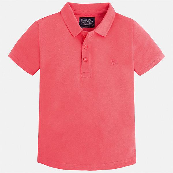 Футболка-поло для мальчика MayoralФутболки, поло и топы<br>Характеристики товара:<br><br>• цвет: розовый<br>• состав: 100% хлопок<br>• отложной воротник<br>• короткие рукава<br>• застежка: пуговицы<br>• вышивка на груди<br>• страна бренда: Испания<br><br>Стильная удобная футболка-поло для мальчика может стать базовой вещью в гардеробе ребенка. Она отлично сочетается с брюками, шортами, джинсами и т.д. Универсальный крой и цвет позволяет подобрать к вещи низ разных расцветок. Практичное и стильное изделие! В составе материала - только натуральный хлопок, гипоаллергенный, приятный на ощупь, дышащий.<br><br>Одежда, обувь и аксессуары от испанского бренда Mayoral полюбились детям и взрослым по всему миру. Модели этой марки - стильные и удобные. Для их производства используются только безопасные, качественные материалы и фурнитура. Порадуйте ребенка модными и красивыми вещами от Mayoral! <br><br>Футболку-поло для мальчика от испанского бренда Mayoral (Майорал) можно купить в нашем интернет-магазине.<br><br>Ширина мм: 230<br>Глубина мм: 40<br>Высота мм: 220<br>Вес г: 250<br>Цвет: розовый<br>Возраст от месяцев: 18<br>Возраст до месяцев: 24<br>Пол: Мужской<br>Возраст: Детский<br>Размер: 92,134,98,104,110,116,122,128<br>SKU: 5277767