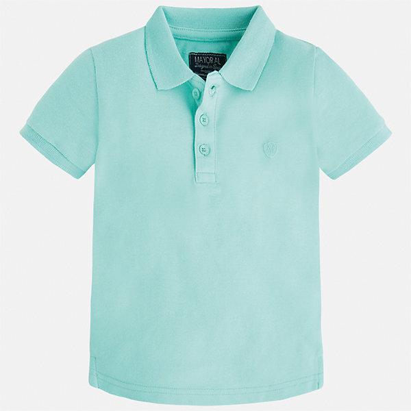 Футболка-поло для мальчика MayoralФутболки, поло и топы<br>Характеристики товара:<br><br>• цвет: зеленый<br>• состав: 100% хлопок<br>• отложной воротник<br>• короткие рукава<br>• застежка: пуговицы<br>• вышивка на груди<br>• страна бренда: Испания<br><br>Стильная удобная футболка-поло для мальчика может стать базовой вещью в гардеробе ребенка. Она отлично сочетается с брюками, шортами, джинсами и т.д. Универсальный крой и цвет позволяет подобрать к вещи низ разных расцветок. Практичное и стильное изделие! В составе материала - только натуральный хлопок, гипоаллергенный, приятный на ощупь, дышащий.<br><br>Одежда, обувь и аксессуары от испанского бренда Mayoral полюбились детям и взрослым по всему миру. Модели этой марки - стильные и удобные. Для их производства используются только безопасные, качественные материалы и фурнитура. Порадуйте ребенка модными и красивыми вещами от Mayoral! <br><br>Футболку-поло для мальчика от испанского бренда Mayoral (Майорал) можно купить в нашем интернет-магазине.<br><br>Ширина мм: 230<br>Глубина мм: 40<br>Высота мм: 220<br>Вес г: 250<br>Цвет: зеленый<br>Возраст от месяцев: 18<br>Возраст до месяцев: 24<br>Пол: Мужской<br>Возраст: Детский<br>Размер: 92,134,104,98,110,116,122,128<br>SKU: 5277776