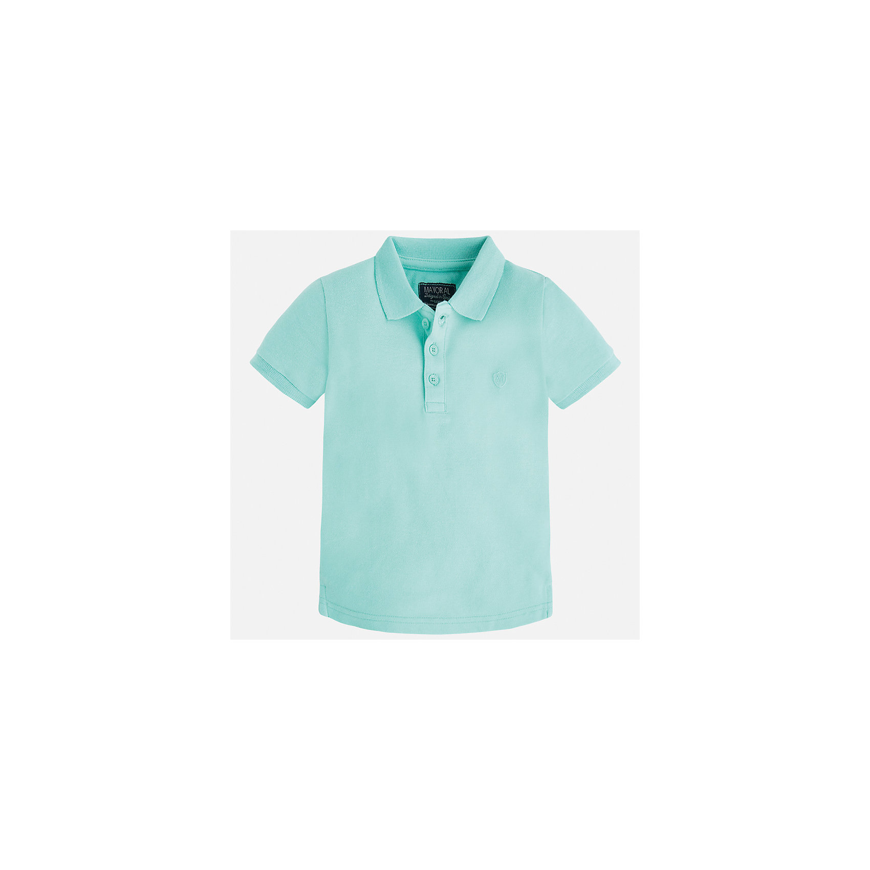 Футболка-поло для мальчика MayoralФутболки, поло и топы<br>Характеристики товара:<br><br>• цвет: зеленый<br>• состав: 100% хлопок<br>• отложной воротник<br>• короткие рукава<br>• застежка: пуговицы<br>• вышивка на груди<br>• страна бренда: Испания<br><br>Стильная удобная футболка-поло для мальчика может стать базовой вещью в гардеробе ребенка. Она отлично сочетается с брюками, шортами, джинсами и т.д. Универсальный крой и цвет позволяет подобрать к вещи низ разных расцветок. Практичное и стильное изделие! В составе материала - только натуральный хлопок, гипоаллергенный, приятный на ощупь, дышащий.<br><br>Одежда, обувь и аксессуары от испанского бренда Mayoral полюбились детям и взрослым по всему миру. Модели этой марки - стильные и удобные. Для их производства используются только безопасные, качественные материалы и фурнитура. Порадуйте ребенка модными и красивыми вещами от Mayoral! <br><br>Футболку-поло для мальчика от испанского бренда Mayoral (Майорал) можно купить в нашем интернет-магазине.<br><br>Ширина мм: 230<br>Глубина мм: 40<br>Высота мм: 220<br>Вес г: 250<br>Цвет: зеленый<br>Возраст от месяцев: 36<br>Возраст до месяцев: 48<br>Пол: Мужской<br>Возраст: Детский<br>Размер: 104,134,128,122,116,110,98,92<br>SKU: 5277776