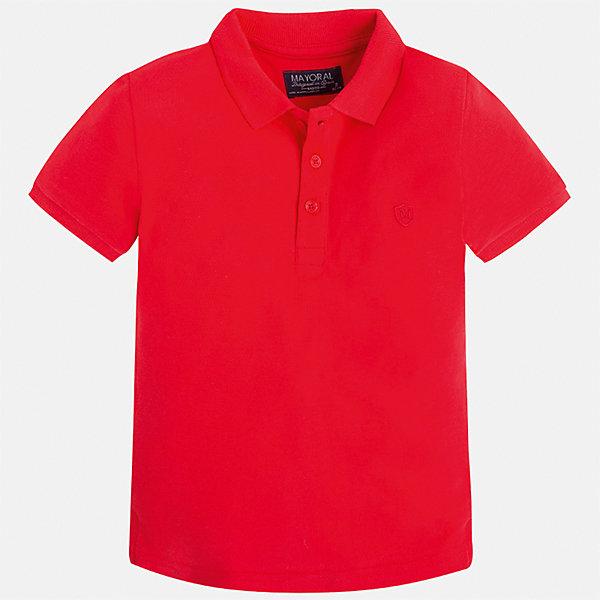 Футболка-поло для мальчика MayoralФутболки, поло и топы<br>Характеристики товара:<br><br>• цвет: красный<br>• состав: 100% хлопок<br>• отложной воротник<br>• короткие рукава<br>• застежка: пуговицы<br>• страна бренда: Испания<br><br>Стильная удобная футболка-поло для мальчика может стать базовой вещью в гардеробе ребенка. Она отлично сочетается с брюками, шортами, джинсами и т.д. Универсальный крой и цвет позволяет подобрать к вещи низ разных расцветок. Практичное и стильное изделие! В составе материала - только натуральный хлопок, гипоаллергенный, приятный на ощупь, дышащий.<br><br>Одежда, обувь и аксессуары от испанского бренда Mayoral полюбились детям и взрослым по всему миру. Модели этой марки - стильные и удобные. Для их производства используются только безопасные, качественные материалы и фурнитура. Порадуйте ребенка модными и красивыми вещами от Mayoral! <br><br>Футболку-поло для мальчика от испанского бренда Mayoral (Майорал) можно купить в нашем интернет-магазине.<br><br>Ширина мм: 230<br>Глубина мм: 40<br>Высота мм: 220<br>Вес г: 250<br>Цвет: красный<br>Возраст от месяцев: 84<br>Возраст до месяцев: 96<br>Пол: Мужской<br>Возраст: Детский<br>Размер: 134,92,98,104,110,116,122,128<br>SKU: 5277785