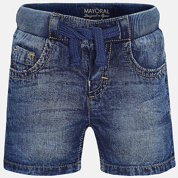Бриджи джинсовые для мальчика MayoralШорты, бриджи, капри<br>Характеристики товара:<br><br>• цвет: синий<br>• состав: 100% хлопок<br>• имитация потертостей<br>• мягкая резинка на талии<br>• карманы<br>• пояс со шнурком<br>• классический силуэт<br>• страна бренда: Испания<br><br>Модные бриджи для мальчика смогут стать базовой вещью в гардеробе ребенка. Они отлично сочетаются с майками, футболками, рубашками и т.д. Универсальный крой и цвет позволяет подобрать к вещи верх разных расцветок. Практичное и стильное изделие! В составе материала - натуральный хлопок, гипоаллергенный, приятный на ощупь, дышащий.<br><br>Одежда, обувь и аксессуары от испанского бренда Mayoral полюбились детям и взрослым по всему миру. Модели этой марки - стильные и удобные. Для их производства используются только безопасные, качественные материалы и фурнитура. Порадуйте ребенка модными и красивыми вещами от Mayoral! <br><br>Бриджи для мальчика от испанского бренда Mayoral (Майорал) можно купить в нашем интернет-магазине.<br>Ширина мм: 191; Глубина мм: 10; Высота мм: 175; Вес г: 273; Цвет: синий; Возраст от месяцев: 12; Возраст до месяцев: 18; Пол: Мужской; Возраст: Детский; Размер: 86,80,92; SKU: 5277851;