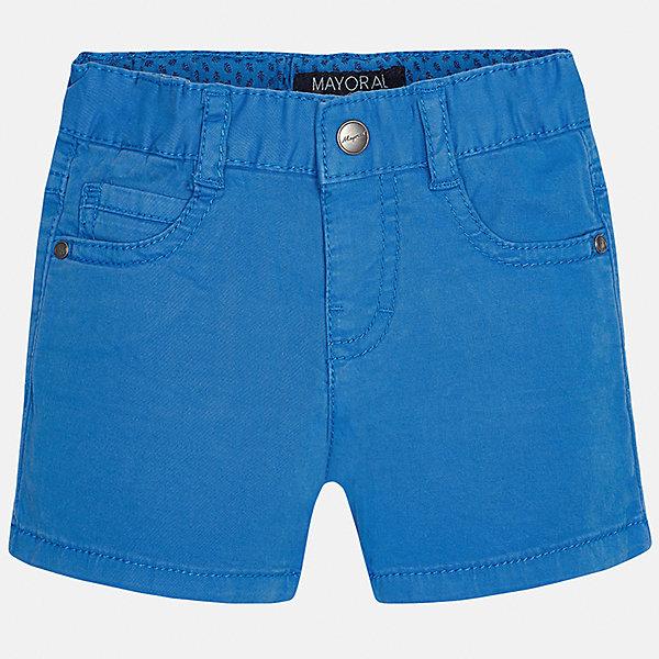 Шорты для мальчика MayoralШорты, бриджи, капри<br>Характеристики товара:<br><br>• цвет: голубой<br>• состав: 98% хлопок, 2% эластан<br>• застежка: пуговица<br>• шлевки<br>• карманы<br>• пояс с регулировкой объема<br>• классический силуэт<br>• страна бренда: Испания<br><br>Модные шорты для мальчика смогут стать базовой вещью в гардеробе ребенка. Они отлично сочетаются с майками, футболками, рубашками и т.д. Универсальный крой и цвет позволяет подобрать к вещи верх разных расцветок. Практичное и стильное изделие! В составе материала - натуральный хлопок, гипоаллергенный, приятный на ощупь, дышащий.<br><br>Одежда, обувь и аксессуары от испанского бренда Mayoral полюбились детям и взрослым по всему миру. Модели этой марки - стильные и удобные. Для их производства используются только безопасные, качественные материалы и фурнитура. Порадуйте ребенка модными и красивыми вещами от Mayoral! <br><br>Шорты для мальчика от испанского бренда Mayoral (Майорал) можно купить в нашем интернет-магазине.<br>Ширина мм: 191; Глубина мм: 10; Высота мм: 175; Вес г: 273; Цвет: синий; Возраст от месяцев: 12; Возраст до месяцев: 15; Пол: Мужской; Возраст: Детский; Размер: 80,86,92; SKU: 5277889;