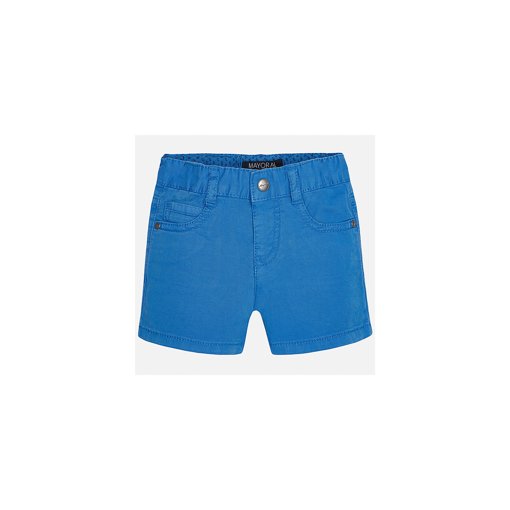 Шорты для мальчика MayoralШорты и бриджи<br>Характеристики товара:<br><br>• цвет: голубой<br>• состав: 98% хлопок, 2% эластан<br>• застежка: пуговица<br>• шлевки<br>• карманы<br>• пояс с регулировкой объема<br>• классический силуэт<br>• страна бренда: Испания<br><br>Модные шорты для мальчика смогут стать базовой вещью в гардеробе ребенка. Они отлично сочетаются с майками, футболками, рубашками и т.д. Универсальный крой и цвет позволяет подобрать к вещи верх разных расцветок. Практичное и стильное изделие! В составе материала - натуральный хлопок, гипоаллергенный, приятный на ощупь, дышащий.<br><br>Одежда, обувь и аксессуары от испанского бренда Mayoral полюбились детям и взрослым по всему миру. Модели этой марки - стильные и удобные. Для их производства используются только безопасные, качественные материалы и фурнитура. Порадуйте ребенка модными и красивыми вещами от Mayoral! <br><br>Шорты для мальчика от испанского бренда Mayoral (Майорал) можно купить в нашем интернет-магазине.<br><br>Ширина мм: 191<br>Глубина мм: 10<br>Высота мм: 175<br>Вес г: 273<br>Цвет: синий<br>Возраст от месяцев: 12<br>Возраст до месяцев: 18<br>Пол: Мужской<br>Возраст: Детский<br>Размер: 86,80,92<br>SKU: 5277889