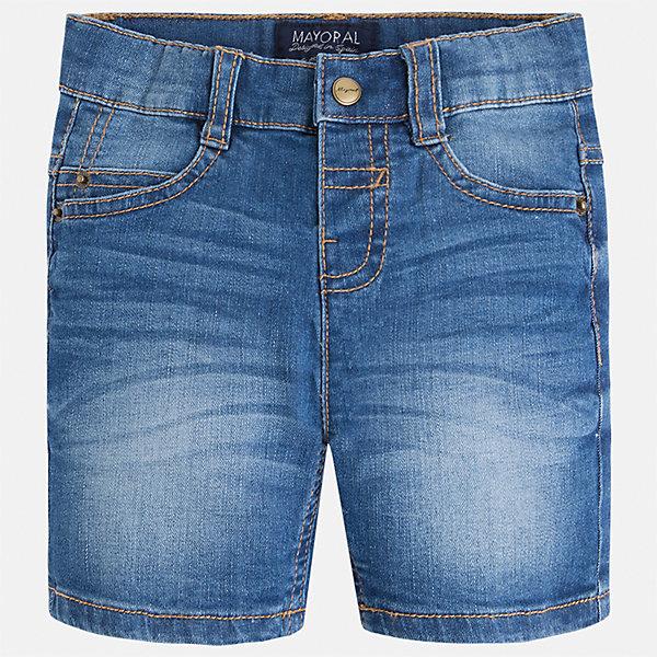 Бриджи джинсовые для мальчика MayoralШорты, бриджи, капри<br>Характеристики товара:<br><br>• цвет: синий<br>• состав: 99% хлопок, 1% эластан<br>• имитация потертостей<br>• пояс с регулировкой объема<br>• карманы<br>• шлевки<br>• классический силуэт<br>• страна бренда: Испания<br><br>Модные бриджи для мальчика смогут стать базовой вещью в гардеробе ребенка. Они отлично сочетаются с майками, футболками, рубашками и т.д. Универсальный крой и цвет позволяет подобрать к вещи верх разных расцветок. Практичное и стильное изделие! В составе материала - натуральный хлопок, гипоаллергенный, приятный на ощупь, дышащий.<br><br>Одежда, обувь и аксессуары от испанского бренда Mayoral полюбились детям и взрослым по всему миру. Модели этой марки - стильные и удобные. Для их производства используются только безопасные, качественные материалы и фурнитура. Порадуйте ребенка модными и красивыми вещами от Mayoral! <br><br>Бриджи для мальчика от испанского бренда Mayoral (Майорал) можно купить в нашем интернет-магазине.<br>Ширина мм: 191; Глубина мм: 10; Высота мм: 175; Вес г: 273; Цвет: синий; Возраст от месяцев: 18; Возраст до месяцев: 24; Пол: Мужской; Возраст: Детский; Размер: 92,134,128,122,98,104,110,116; SKU: 5277907;