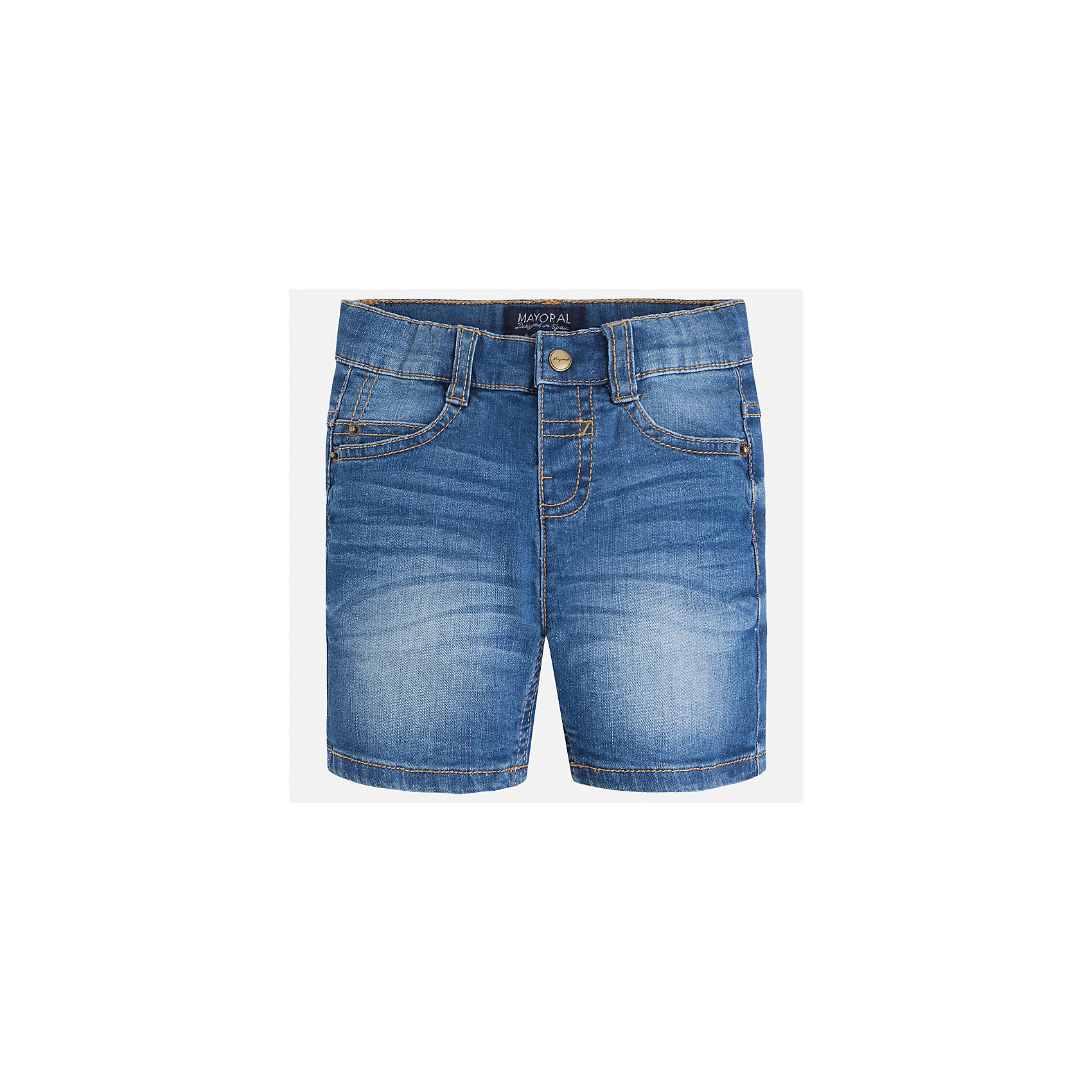 Бриджи джинсовые для мальчика MayoralХарактеристики товара:<br><br>• цвет: синий<br>• состав: 99% хлопок, 1% эластан<br>• имитация потертостей<br>• пояс с регулировкой объема<br>• карманы<br>• шлевки<br>• классический силуэт<br>• страна бренда: Испания<br><br>Модные бриджи для мальчика смогут стать базовой вещью в гардеробе ребенка. Они отлично сочетаются с майками, футболками, рубашками и т.д. Универсальный крой и цвет позволяет подобрать к вещи верх разных расцветок. Практичное и стильное изделие! В составе материала - натуральный хлопок, гипоаллергенный, приятный на ощупь, дышащий.<br><br>Одежда, обувь и аксессуары от испанского бренда Mayoral полюбились детям и взрослым по всему миру. Модели этой марки - стильные и удобные. Для их производства используются только безопасные, качественные материалы и фурнитура. Порадуйте ребенка модными и красивыми вещами от Mayoral! <br><br>Бриджи для мальчика от испанского бренда Mayoral (Майорал) можно купить в нашем интернет-магазине.<br><br>Ширина мм: 191<br>Глубина мм: 10<br>Высота мм: 175<br>Вес г: 273<br>Цвет: синий<br>Возраст от месяцев: 36<br>Возраст до месяцев: 48<br>Пол: Мужской<br>Возраст: Детский<br>Размер: 104,98,92,122,128,134,116,110<br>SKU: 5277907